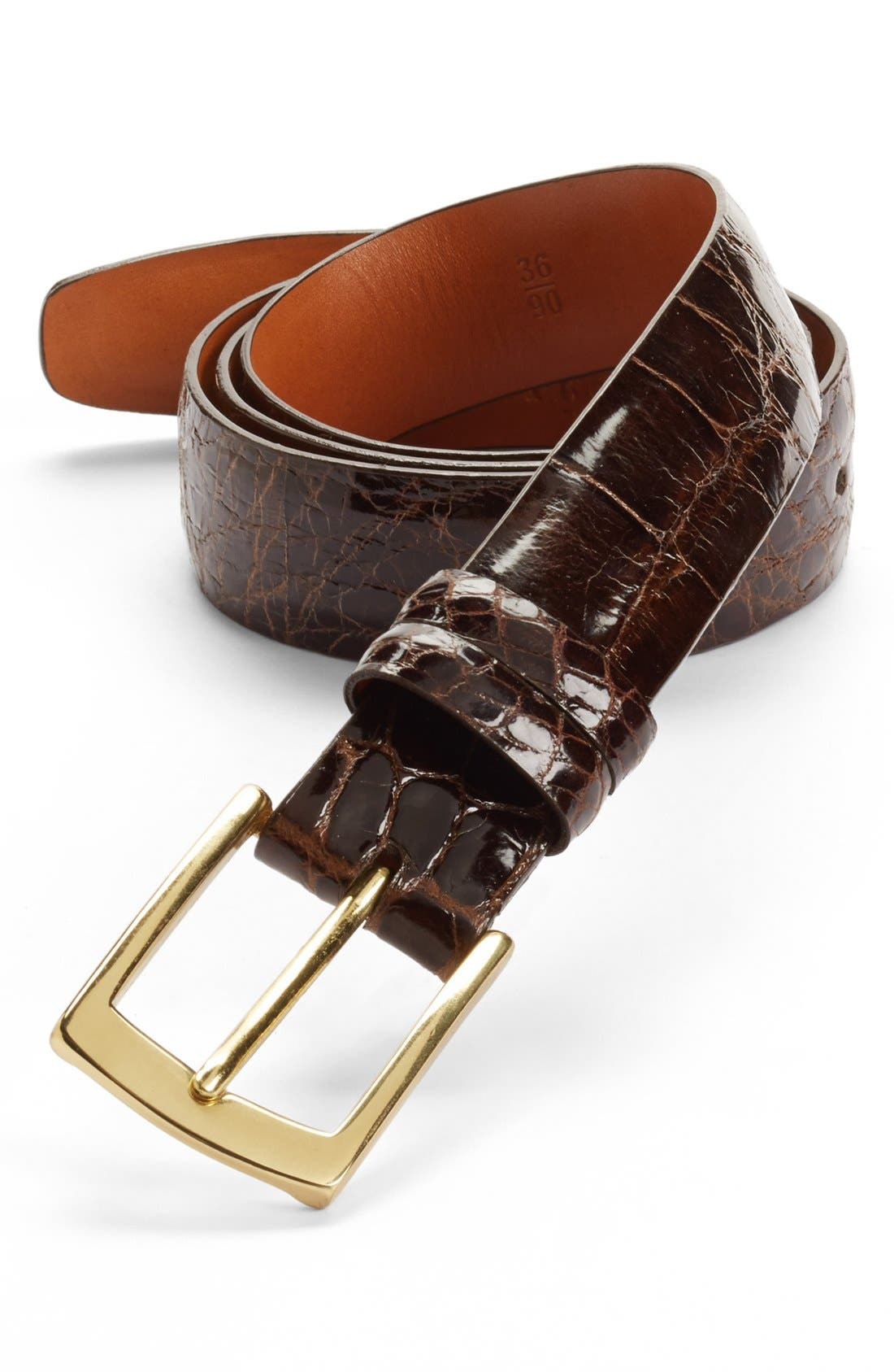 Alternate Image 1 Selected - Trafalgar Alligator Belt