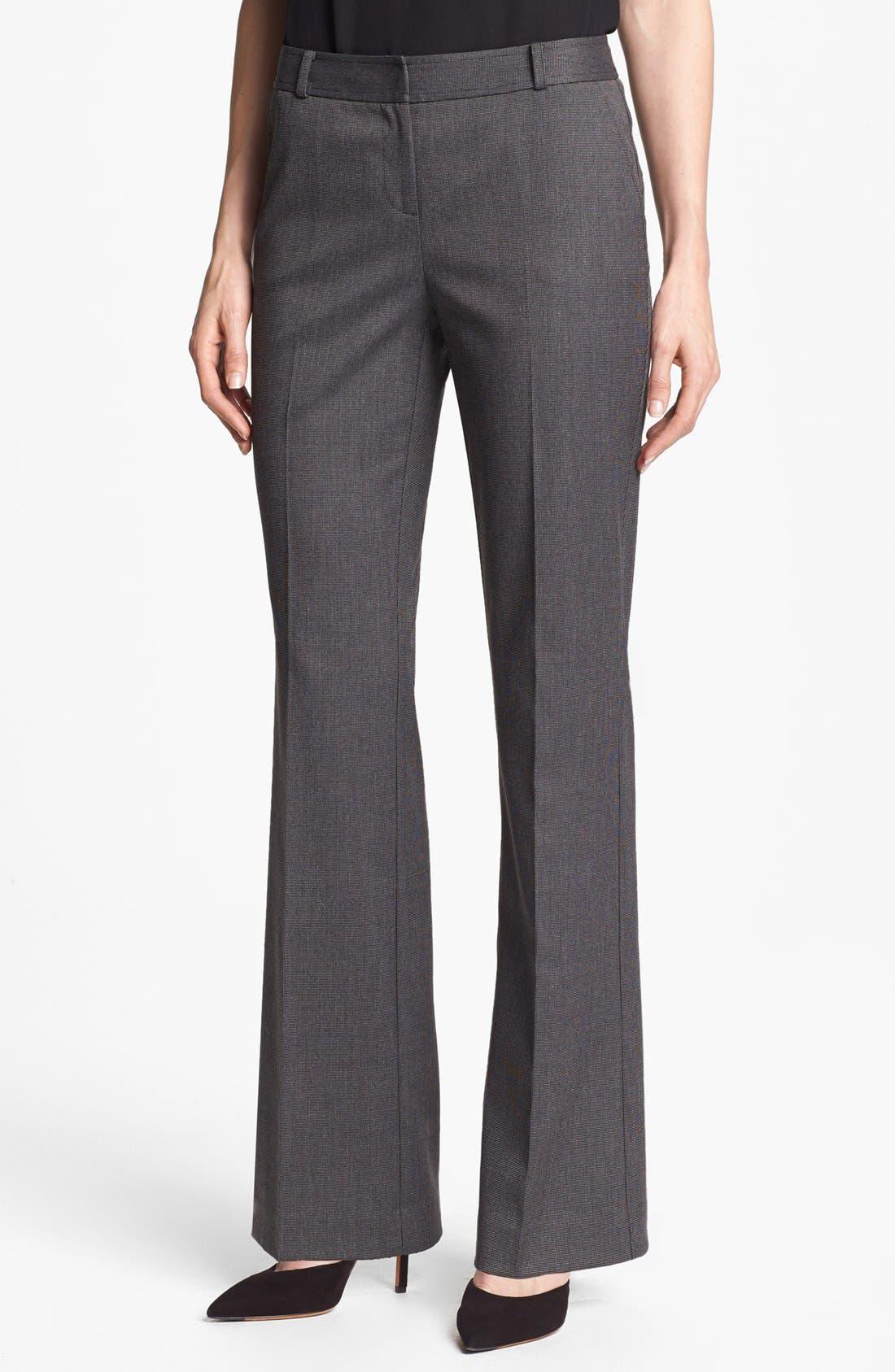 Alternate Image 1 Selected - Halogen® 'Taylor' Tweed Pants (Petite)