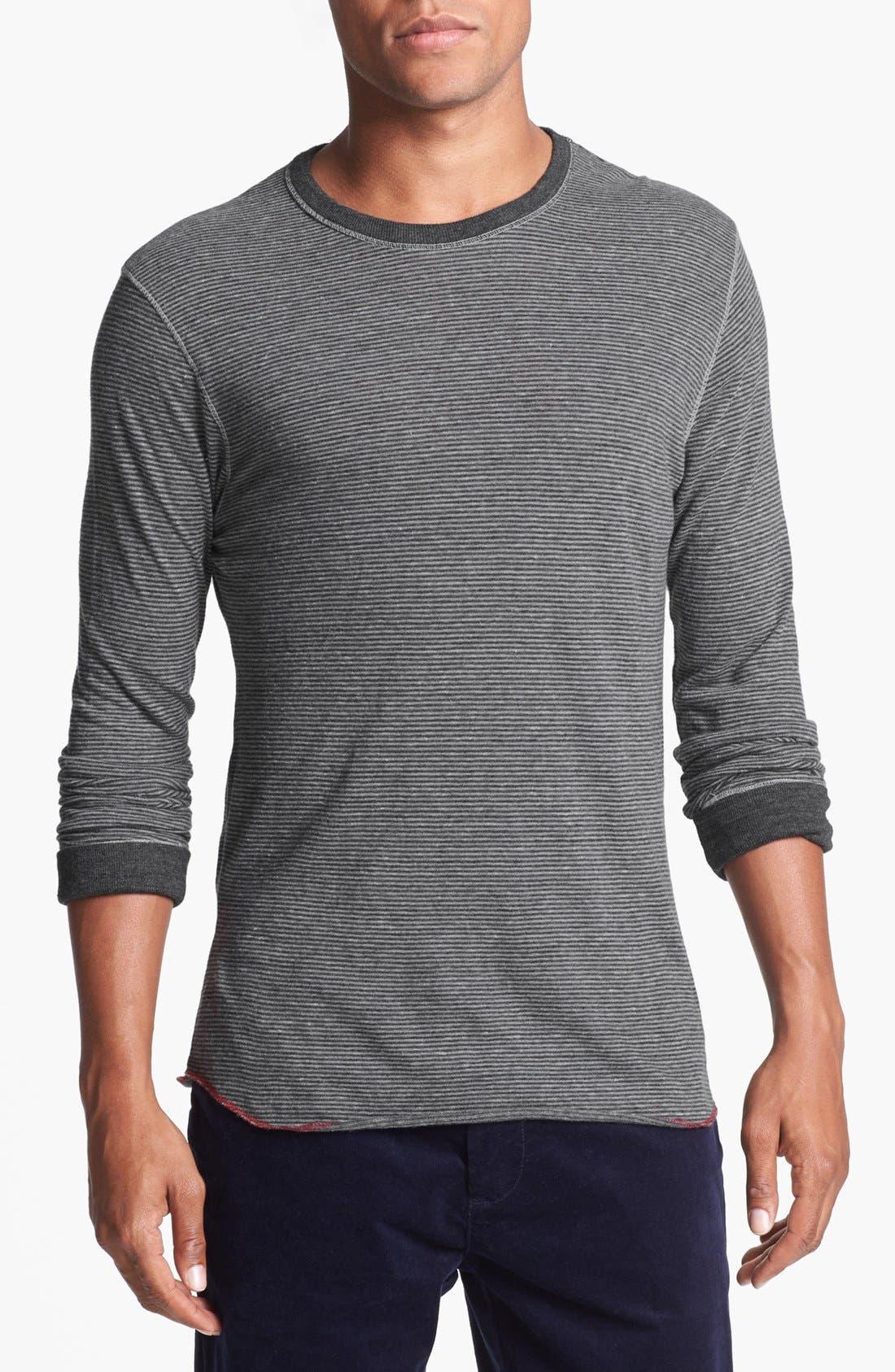 Main Image - Alternative 'Feeder' Stripe Long Sleeve Crewneck T-Shirt