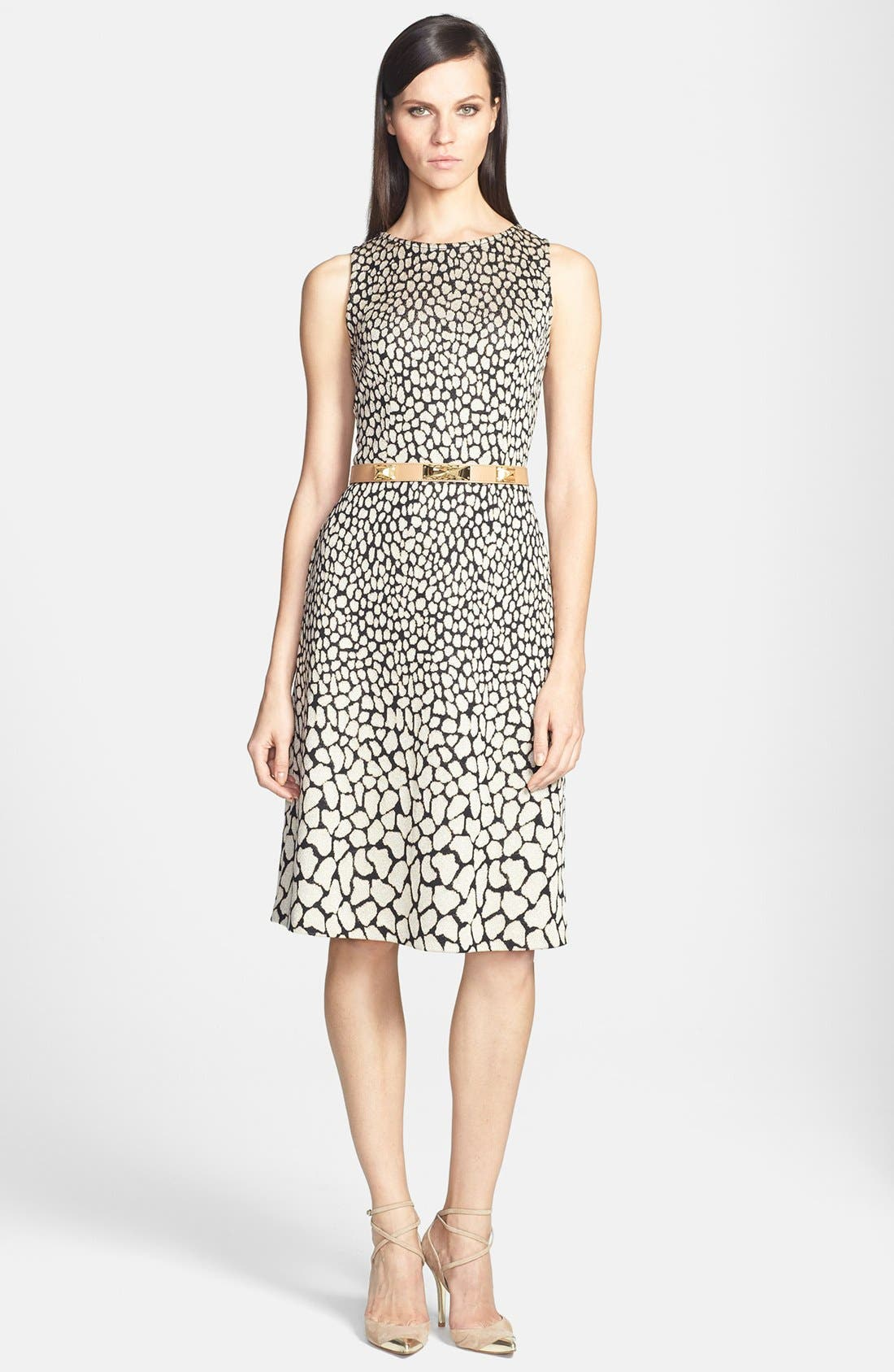 Main Image - St. John Collection Animal Jacquard Knit Dress