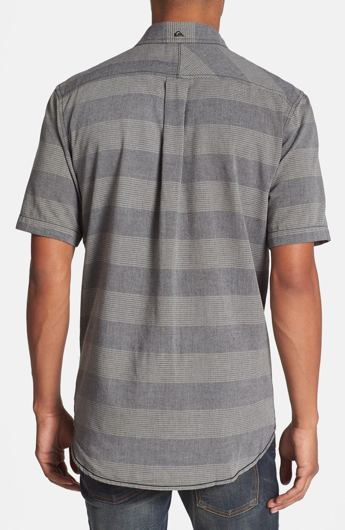 Alternate Image 2  - Quiksilver 'Tube Release' Stripe Short Sleeve Shirt