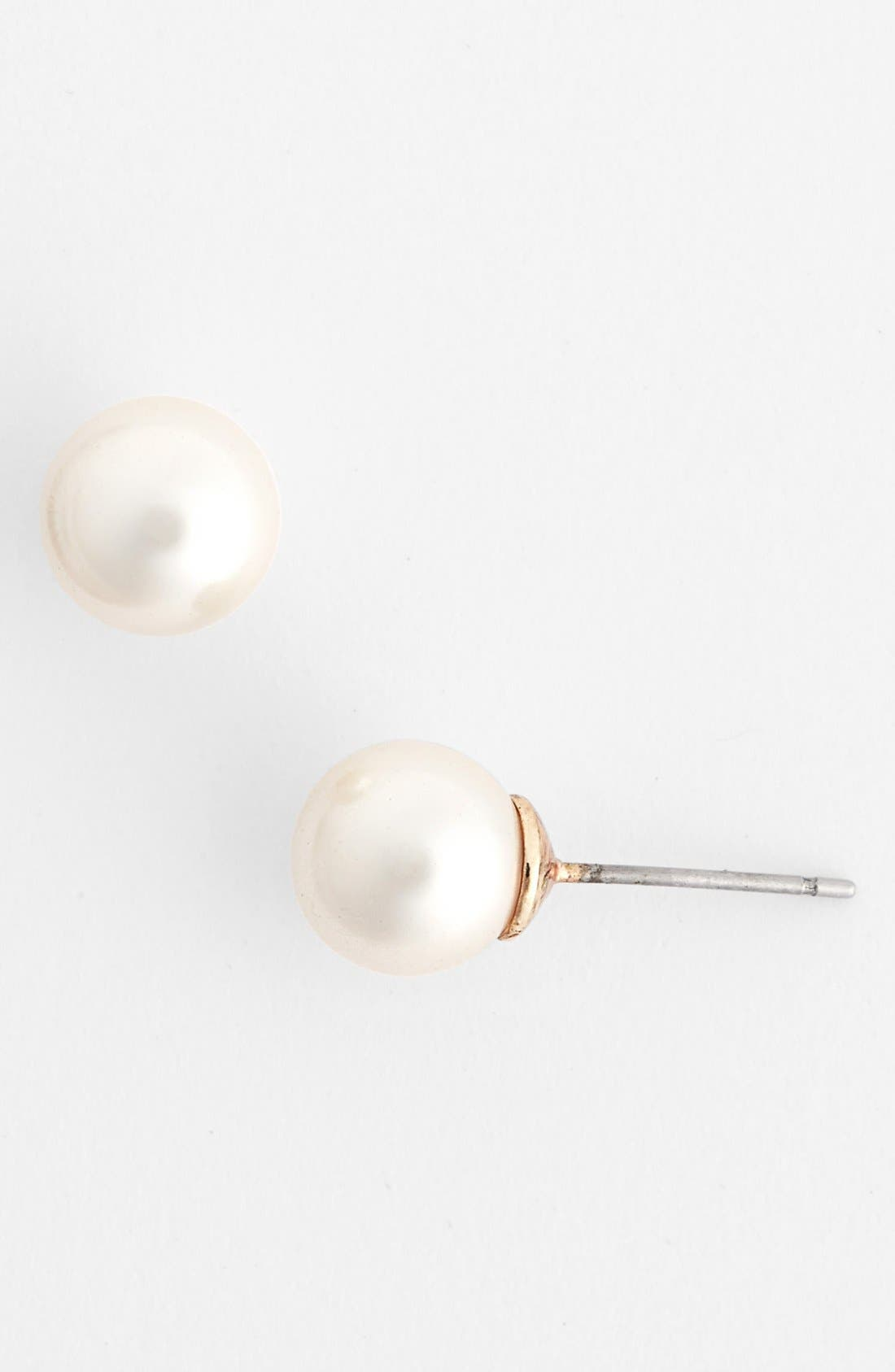 Alternate Image 1 Selected - Anne Klein Faux Pearl Stud Earrings