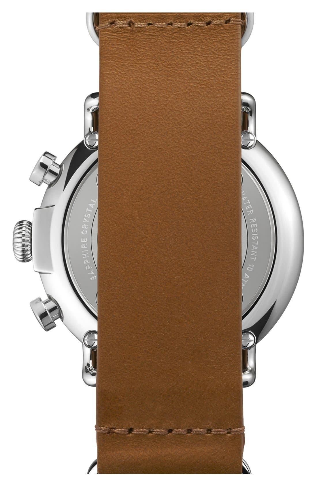 Alternate Image 2  - Shinola 'The Runwell Chrono' Leather Strap Watch, 47mm