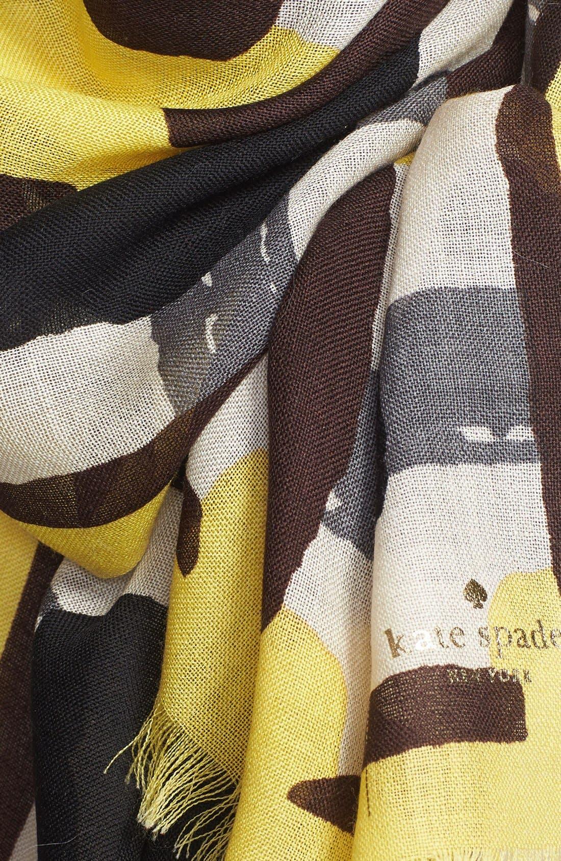 Alternate Image 4  - kate spade new york 'beautiful type - menswear geo' scarf