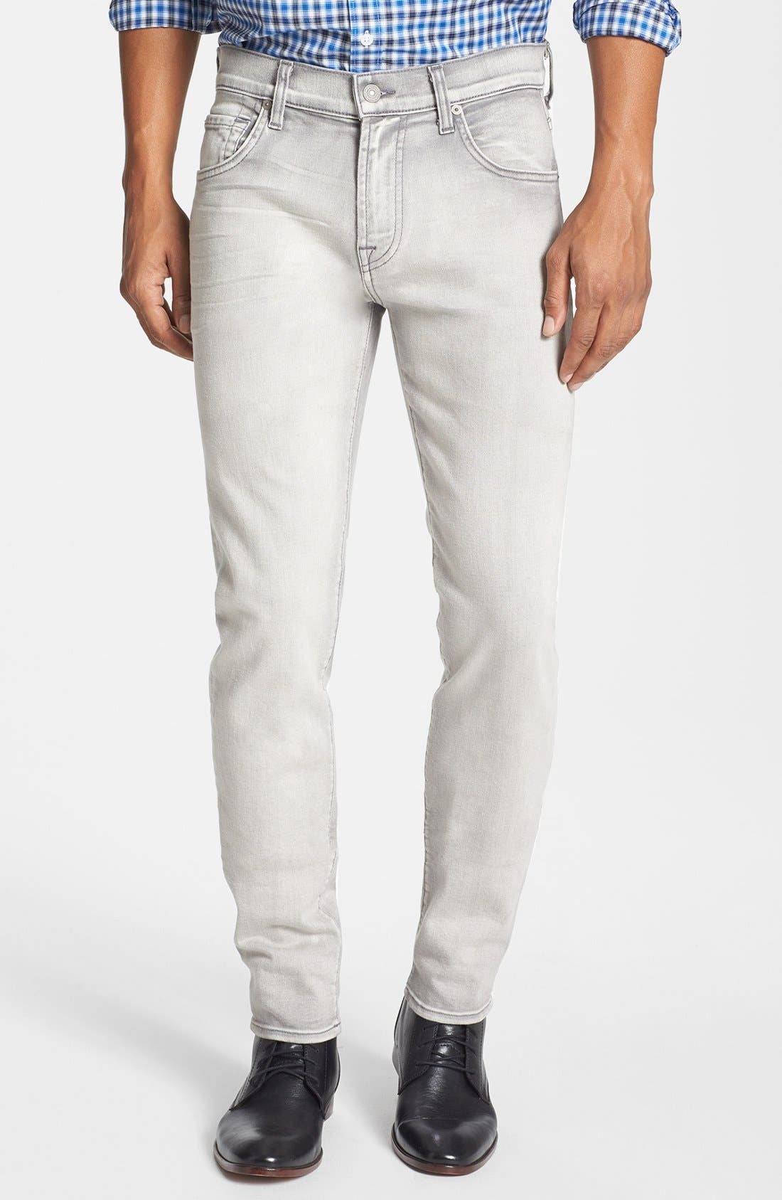 Alternate Image 1 Selected - 7 For All Mankind® 'Paxtyn' Skinny Fit Jeans (Weathered White)