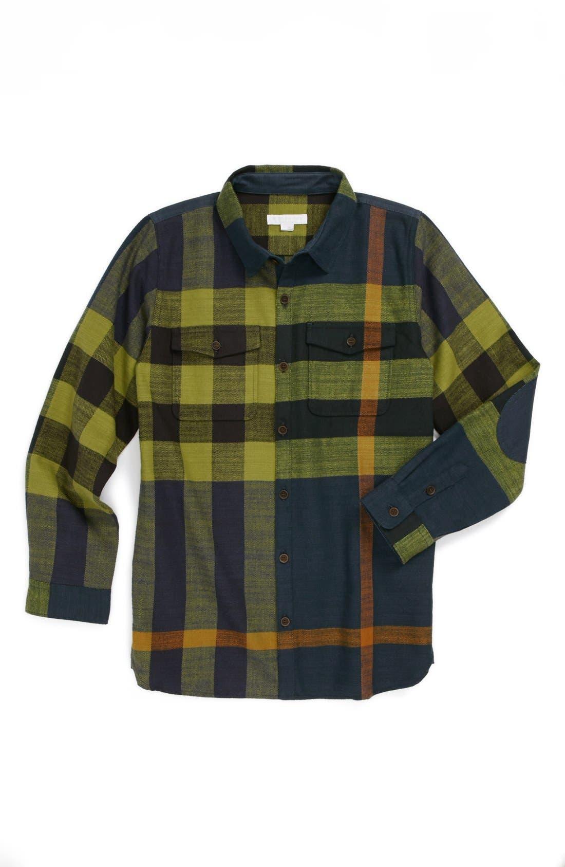 Main Image - Burberry 'Endell' Flannel Shirt (Little Boys & Big Boys)