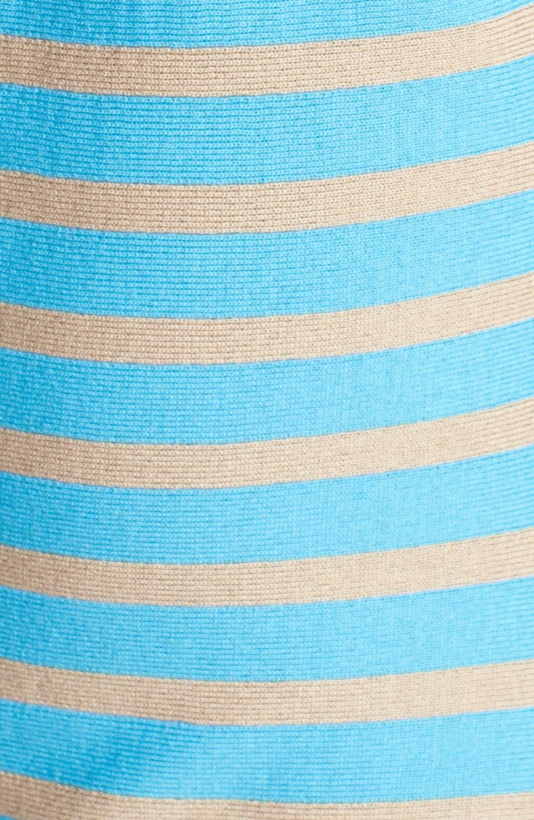 Alternate Image 3  - St. John Collection Stripe Milano Knit Fit & Flare Dress