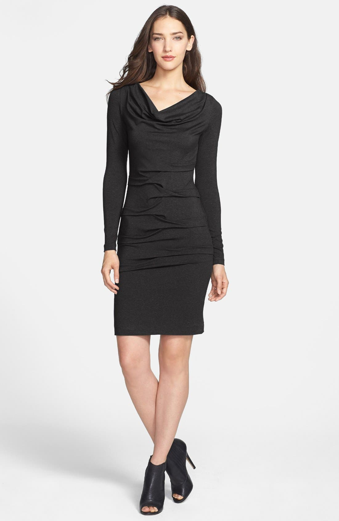 Alternate Image 2  - Nicole Miller Ruched Jersey Body-Con Dress