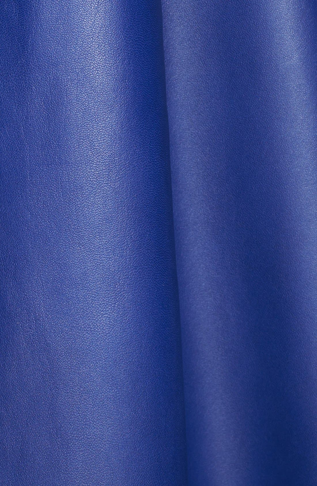 Alternate Image 3  - St. John Collection Asymmetrical Nappa Leather Poncho