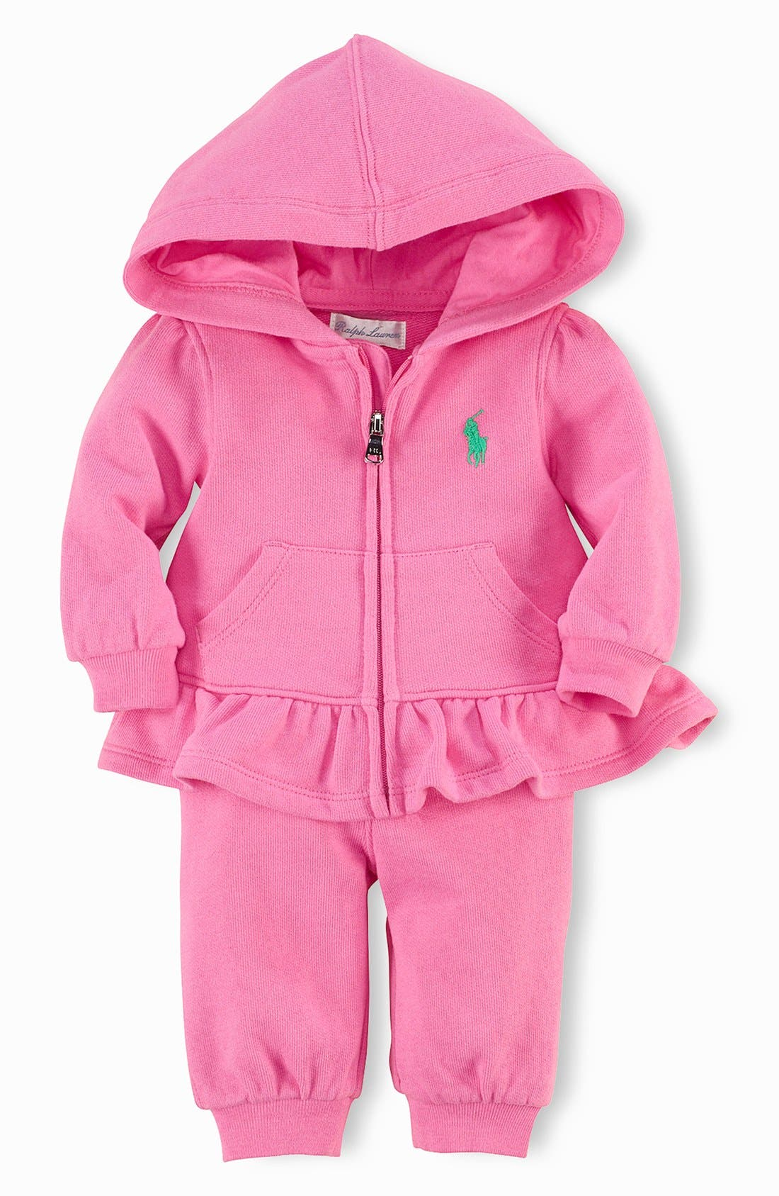 Main Image - Ralph Lauren French Terry Two Piece Set (Baby Girls)