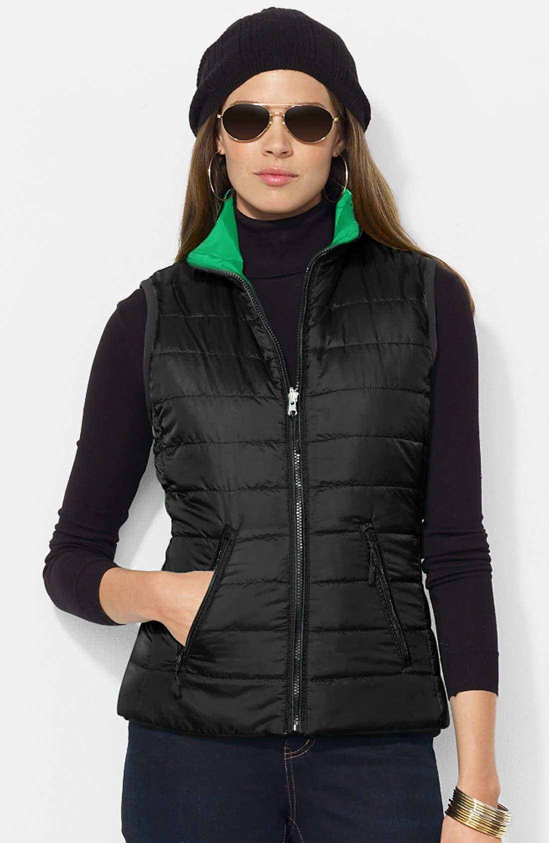Alternate Image 2  - Lauren Ralph Lauren 'Vashya' Puffer Vest (Petite)