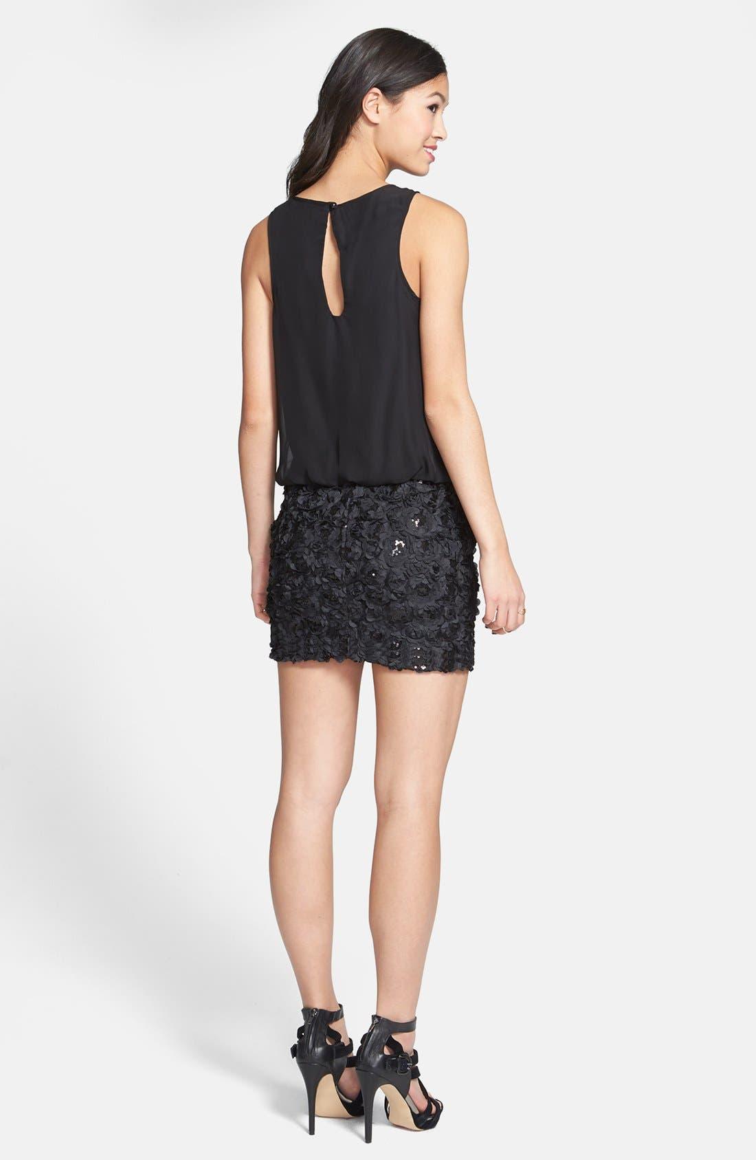 Alternate Image 2  - As U Wish Textured Blouson Dress (Juniors)