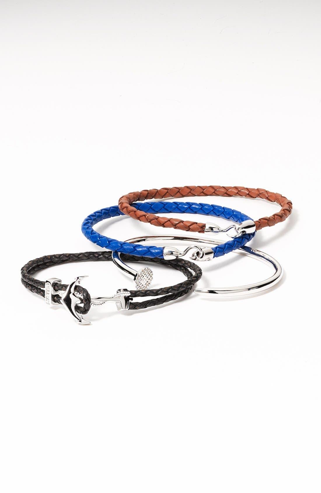 Alternate Image 2  - Mateo Bijoux 'Greek' Braided Leather Bracelet