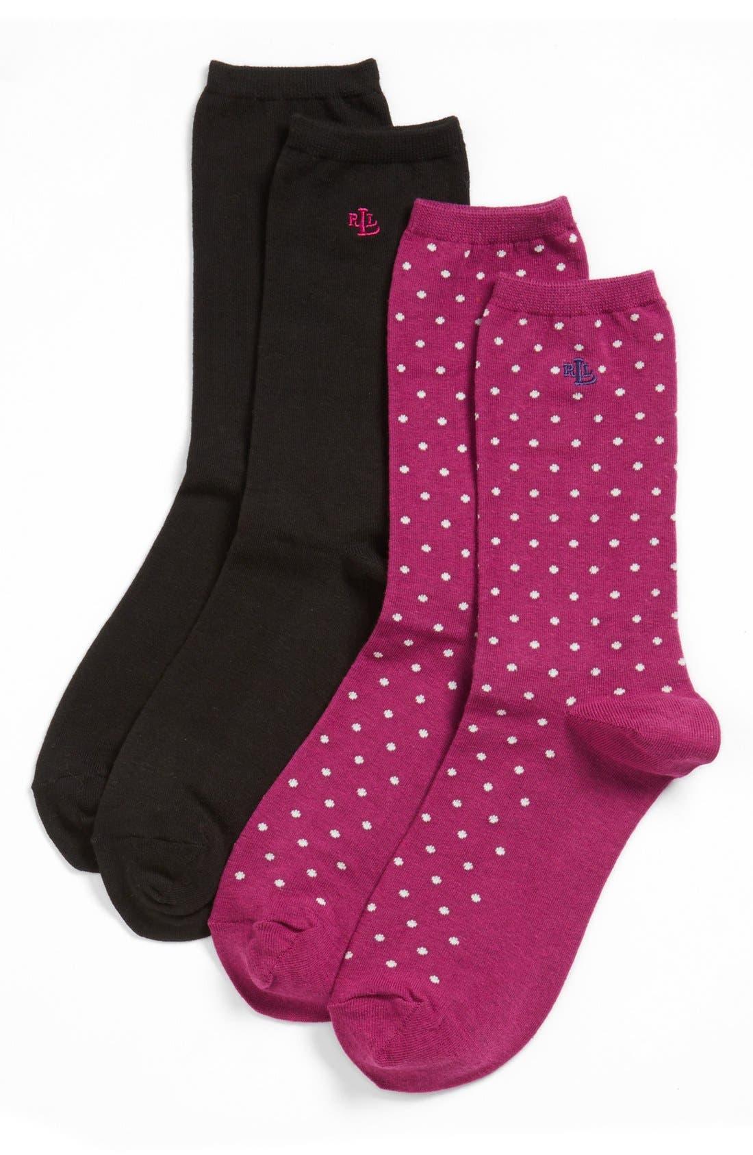 Alternate Image 1 Selected - Ralph Lauren Trouser Socks (2-Pack)