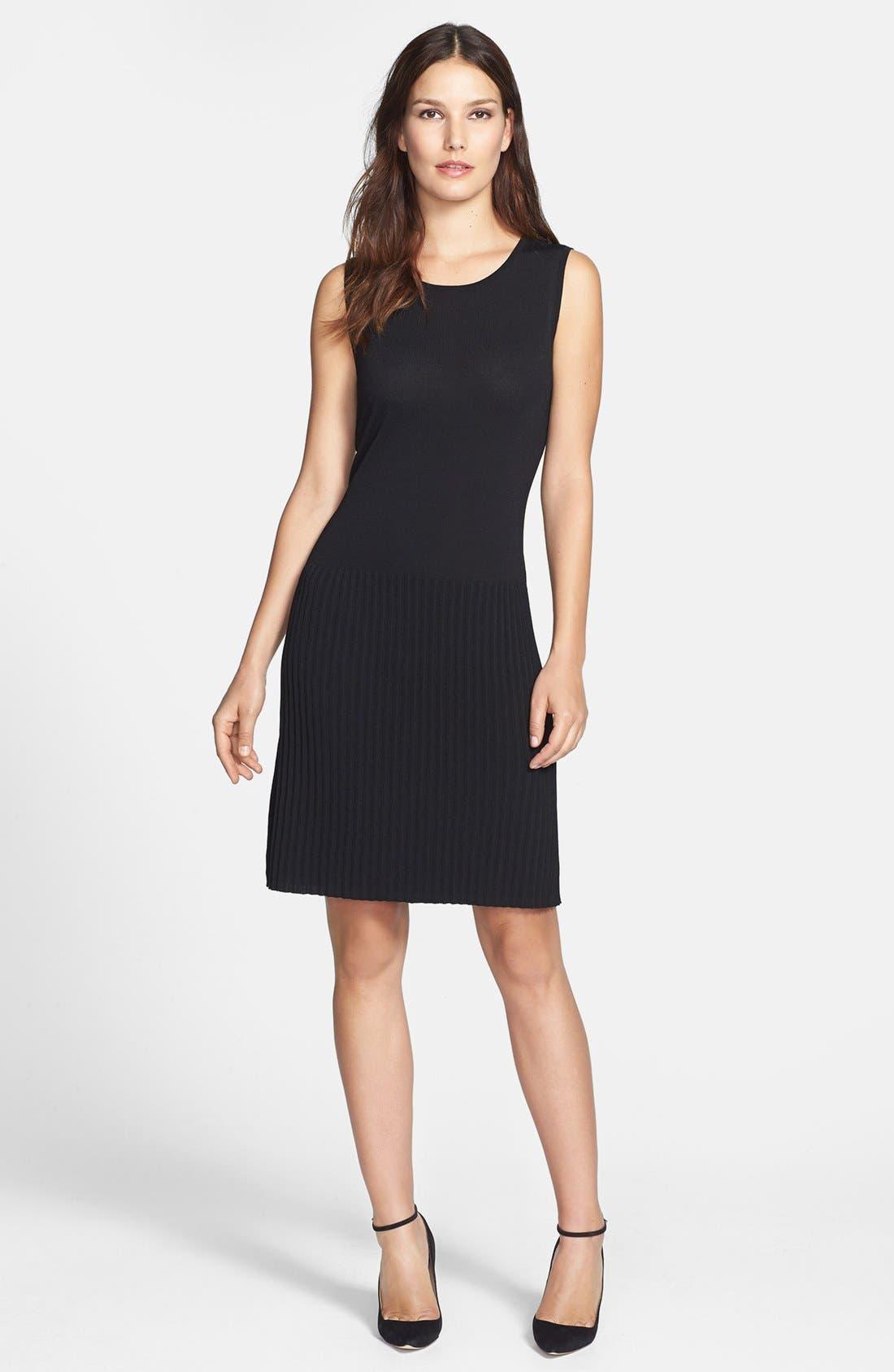 Main Image - Chaus Faux Leather Trim Dress