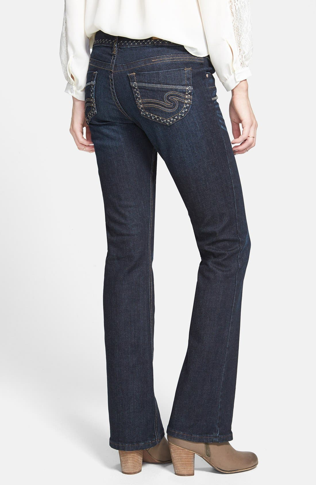 Alternate Image 2  - STS Blue 'Coranada' Embroidered Bootcut Jeans (Medium) (Juniors) (Online Only)