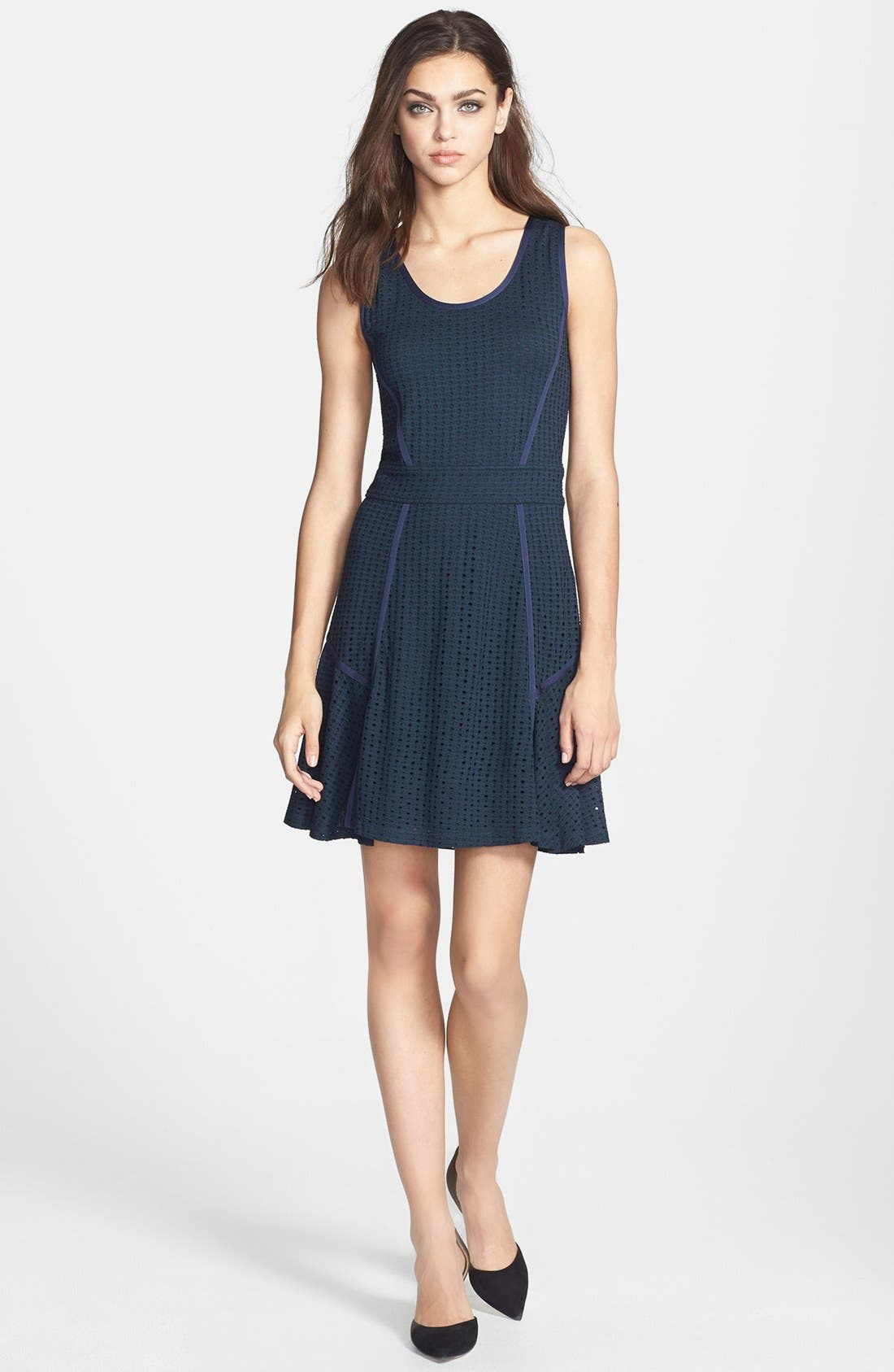 Alternate Image 1 Selected - MARC BY MARC JACOBS 'Emi' Pointelle Fit & Flare Dress