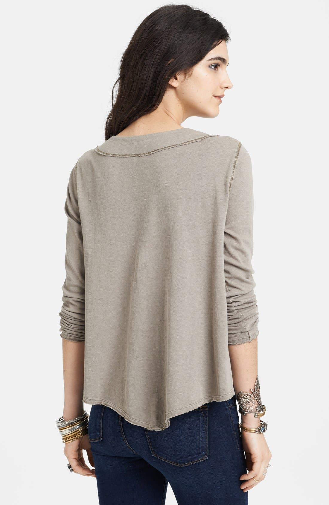 Alternate Image 2  - Free People Laced Neck Cotton Tee