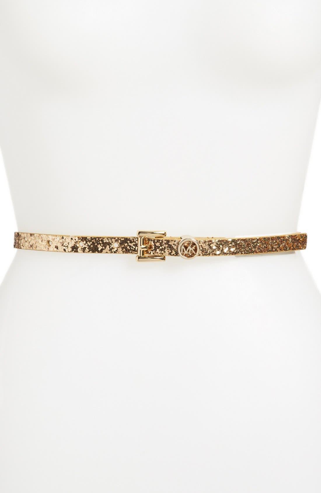 Alternate Image 1 Selected - MICHAEL Michael Kors Glitter Belt