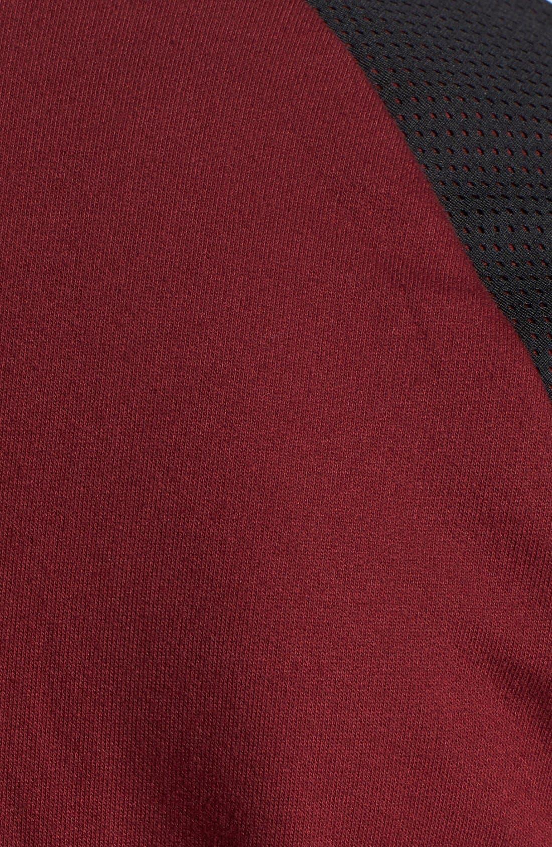 Alternate Image 3  - Topman Mesh Raglan Sleeve Bomber Jacket
