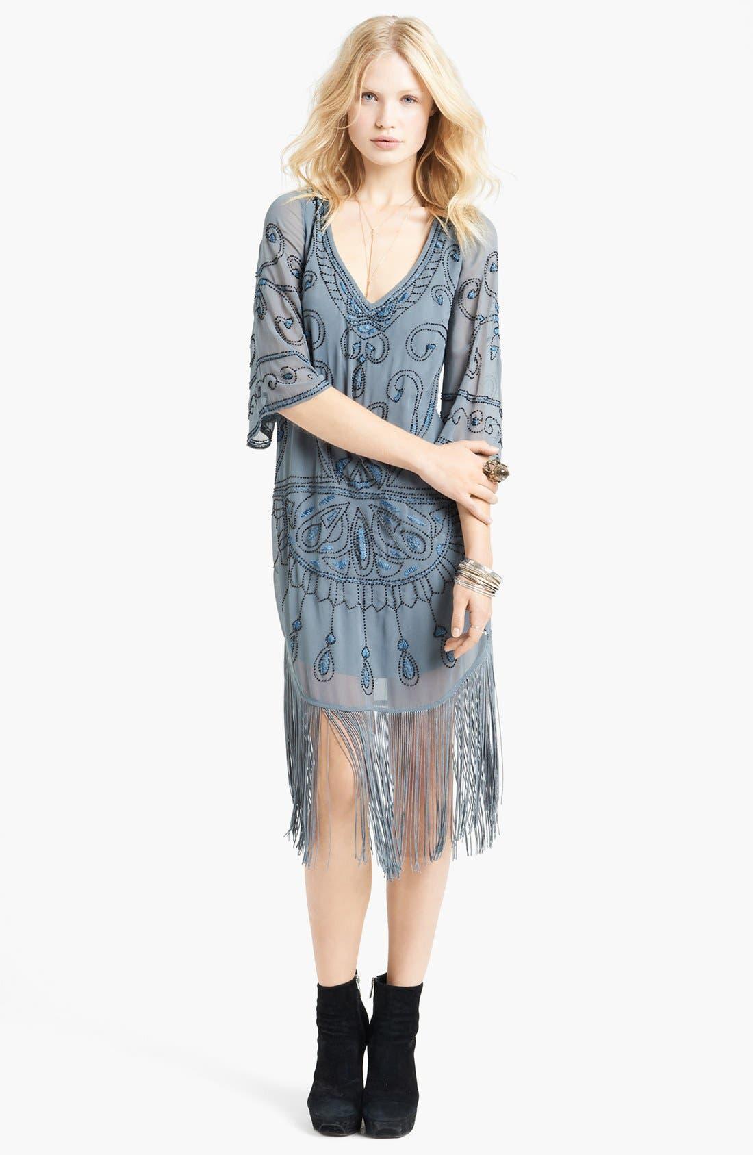 Main Image - Free People 'Livin' the Fringe Life' Embellished Dress