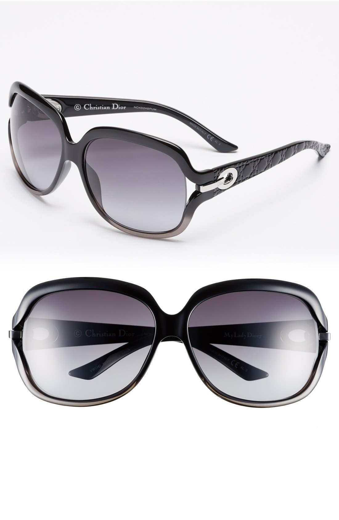 Alternate Image 1 Selected - Dior 62mm Oversized Polarized Sunglasses