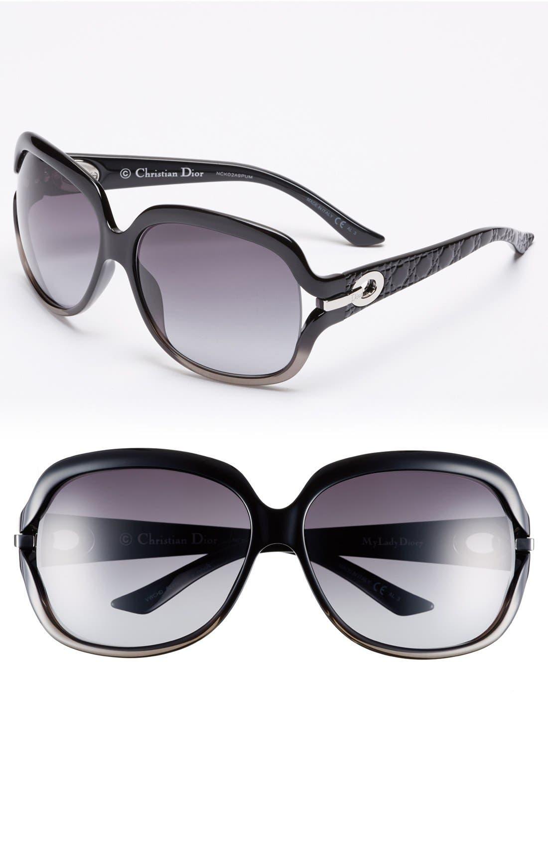 Main Image - Dior 62mm Oversized Polarized Sunglasses