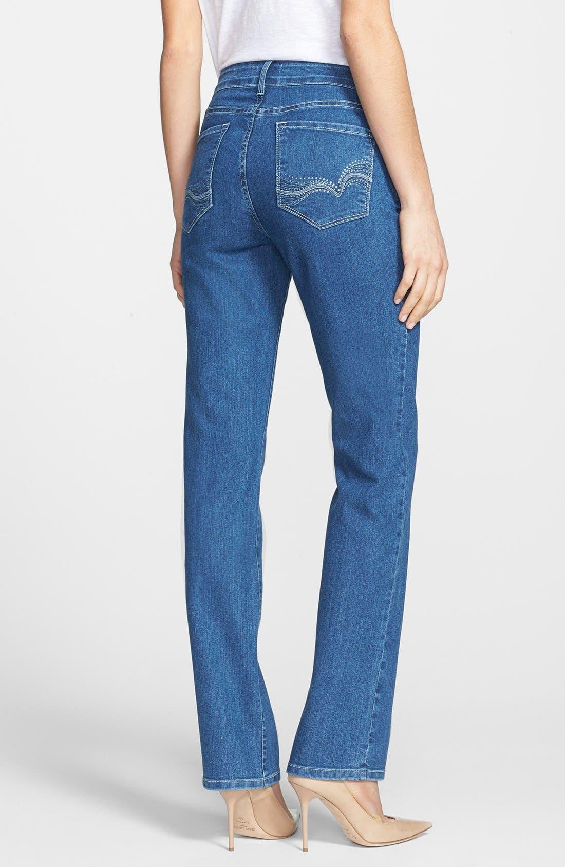 Alternate Image 3  - NYDJ 'Marilyn' Stretch Straight Leg Jeans (Maryland)