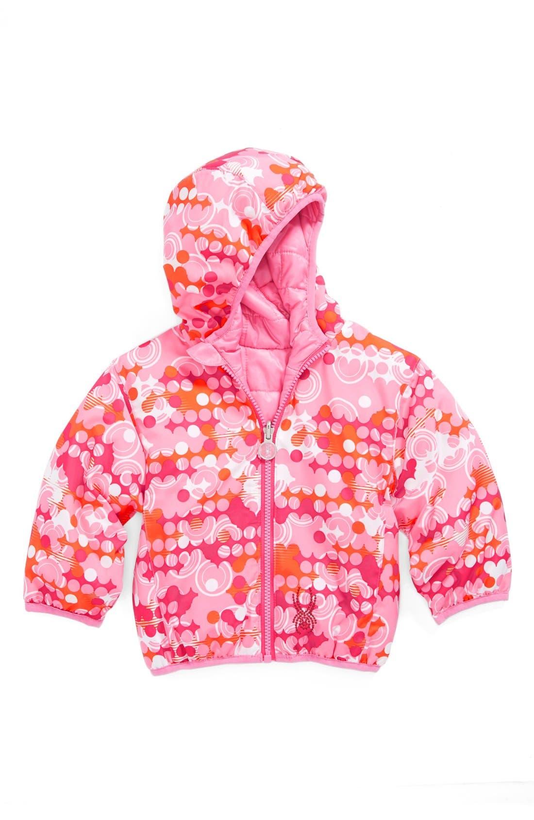 Alternate Image 1 Selected - Spyder 'Yummy' Reversible Jacket (Baby Girls)