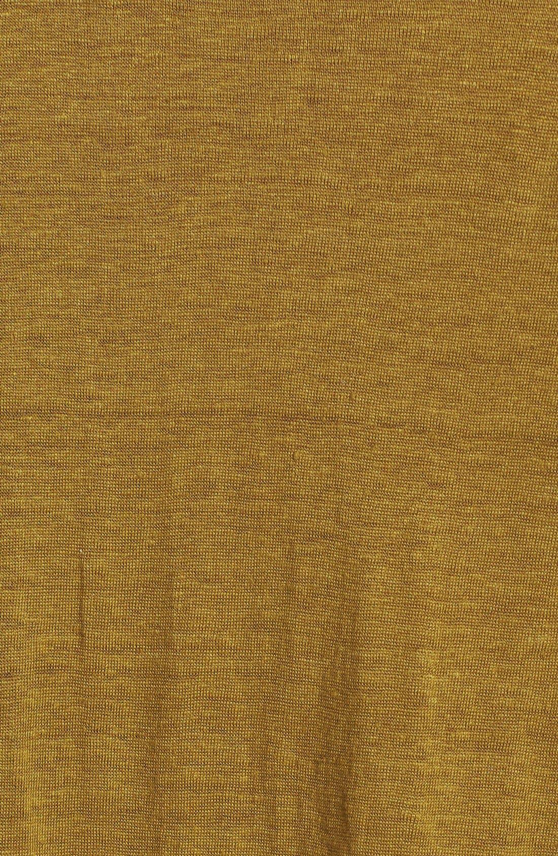 Alternate Image 3  - Eileen Fisher Sloped Hem Organic Linen Top