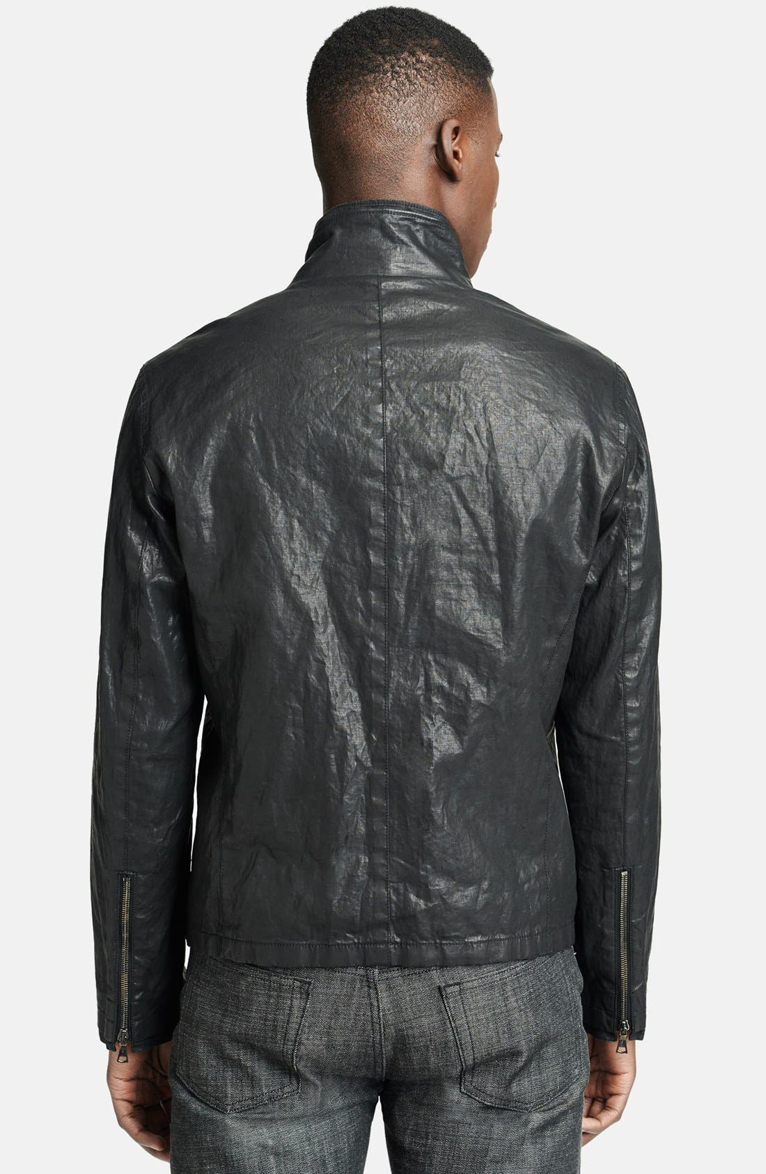 Alternate Image 2  - John Varvatos Collection Resin Coated Linen Jacket