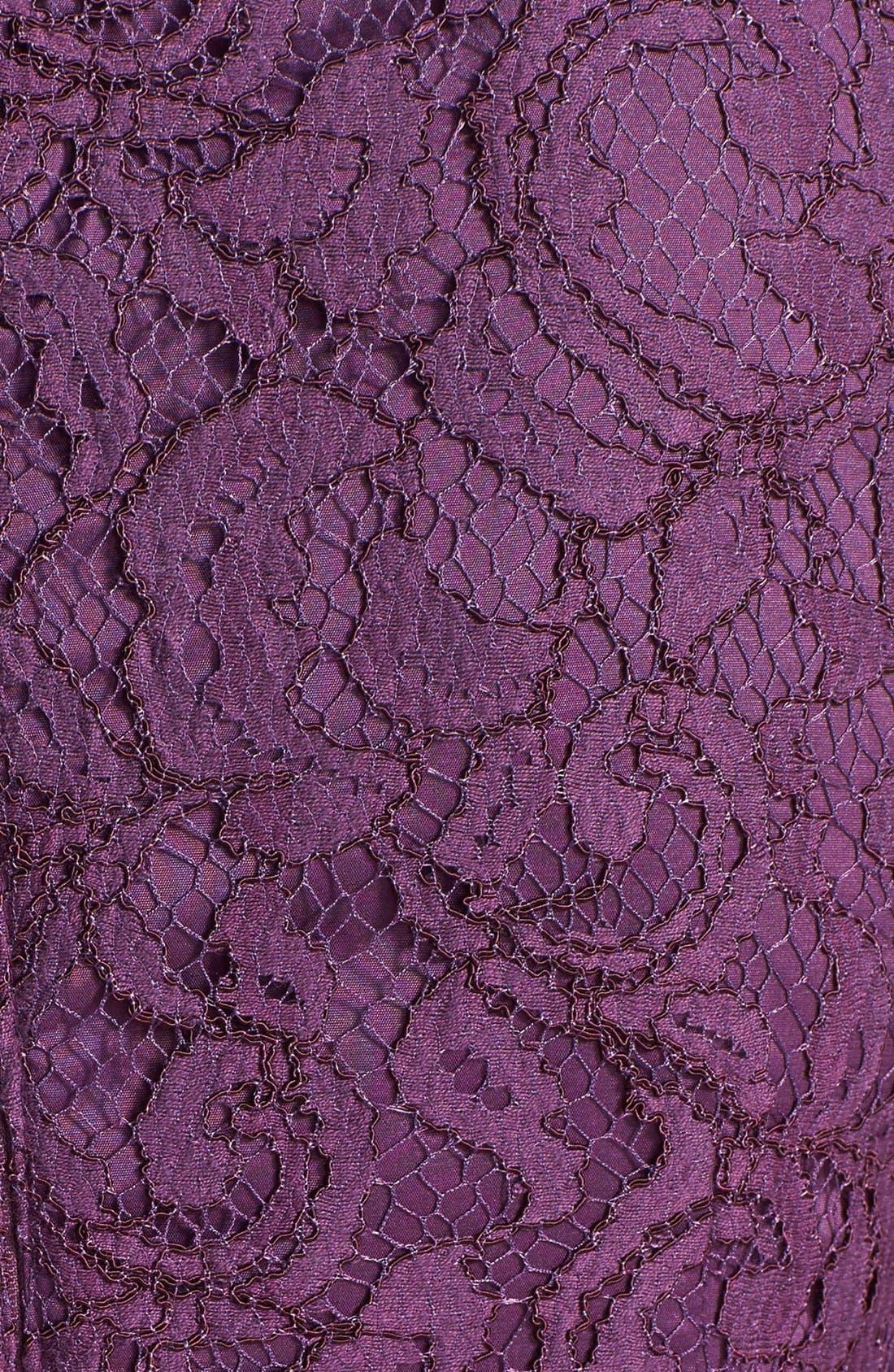 Alternate Image 3  - Adrianna Papell Sleeveless Pleated Lace Sheath Dress