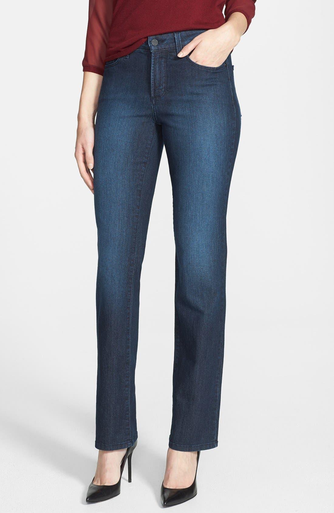Alternate Image 1 Selected - NYDJ 'Marilyn' Stretch Straight Leg Jeans (Dana Point)