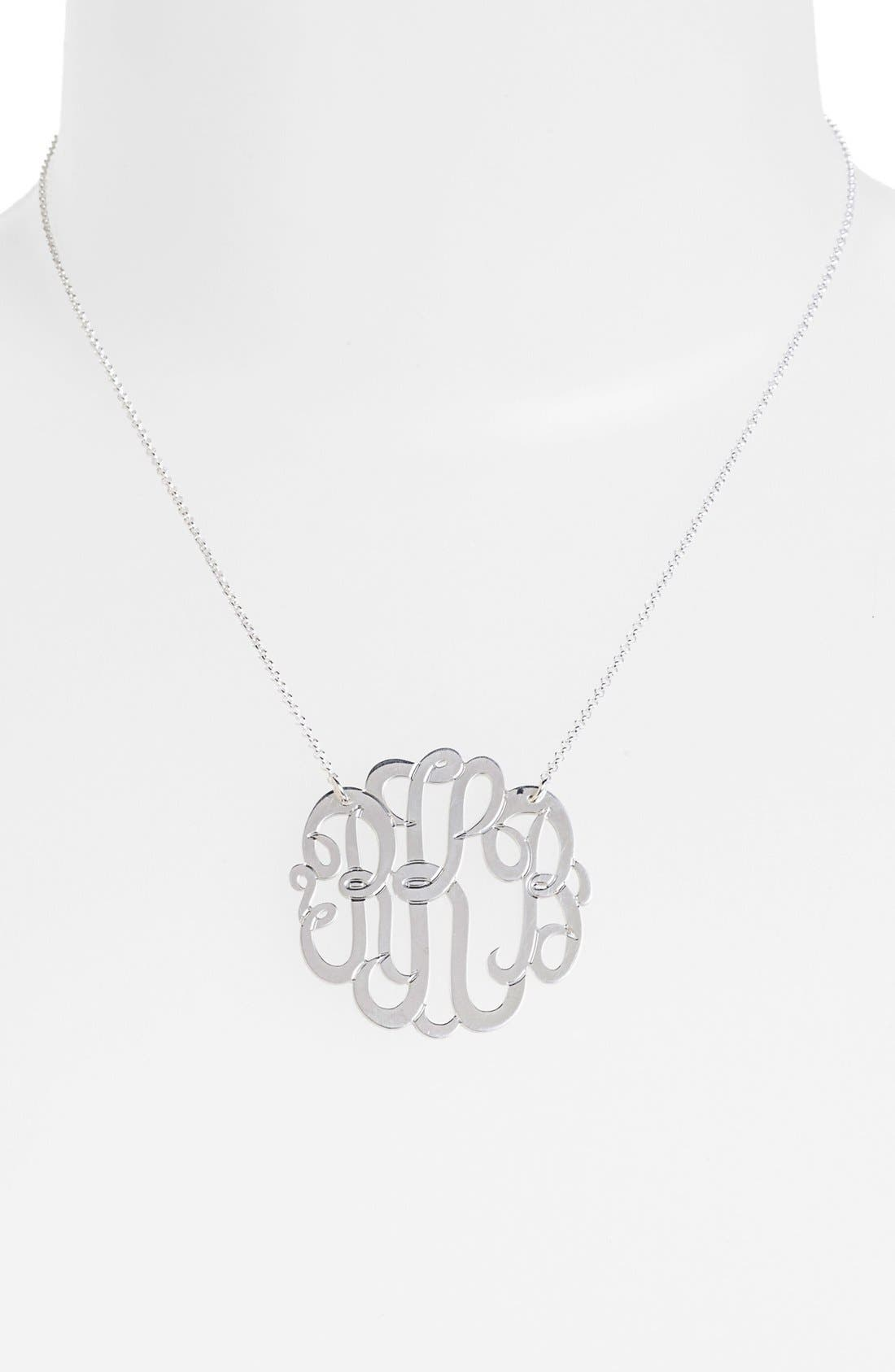 Alternate Image 2  - Argento Vivo Personalized Large 3-Initial Letter Monogram Necklace (Nordstrom Exclusive)