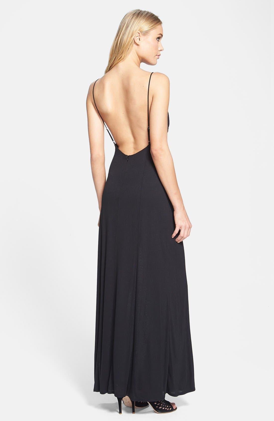 Alternate Image 2  - June & Hudson Open Back Maxi Dress