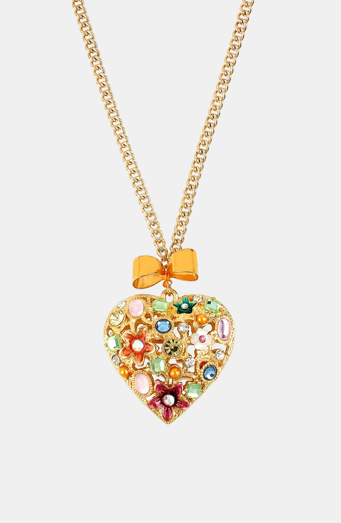 Main Image - Betsey Johnson 'Fairyland' Heart Pendant Necklace