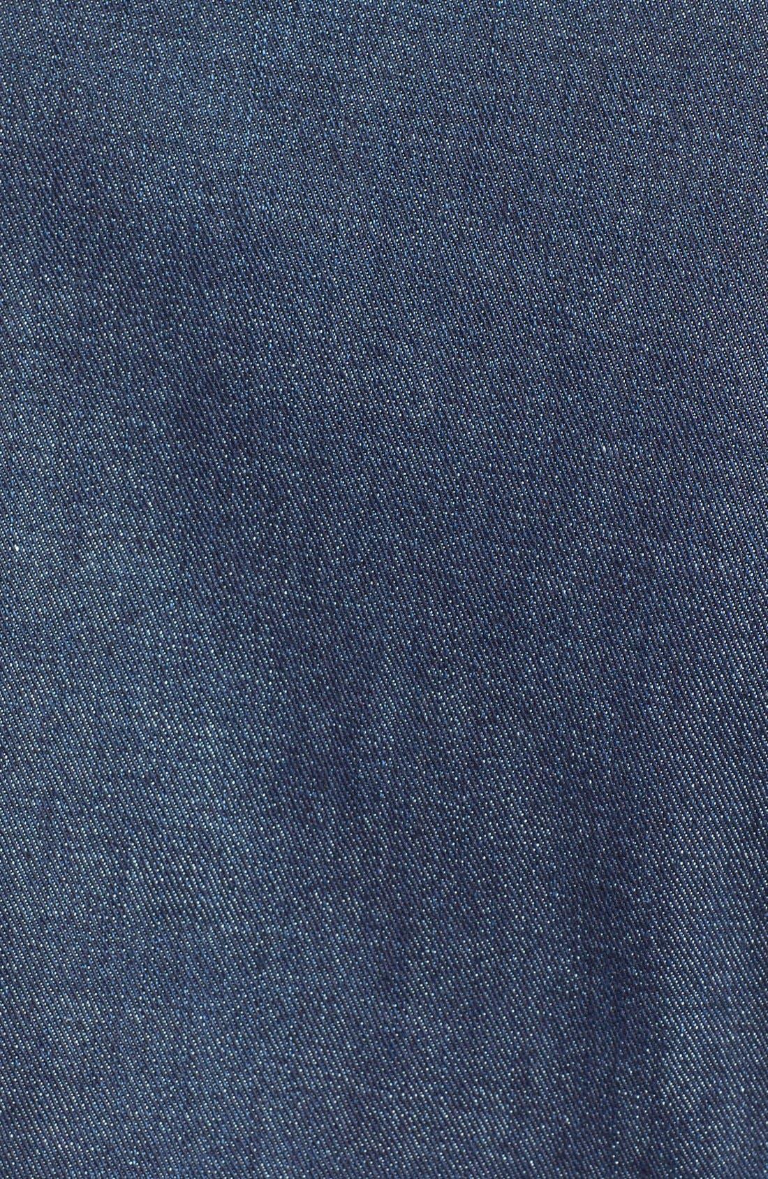 Alternate Image 3  - Lucky Brand 'Sabrina' Leather Sleeve Denim Jacket