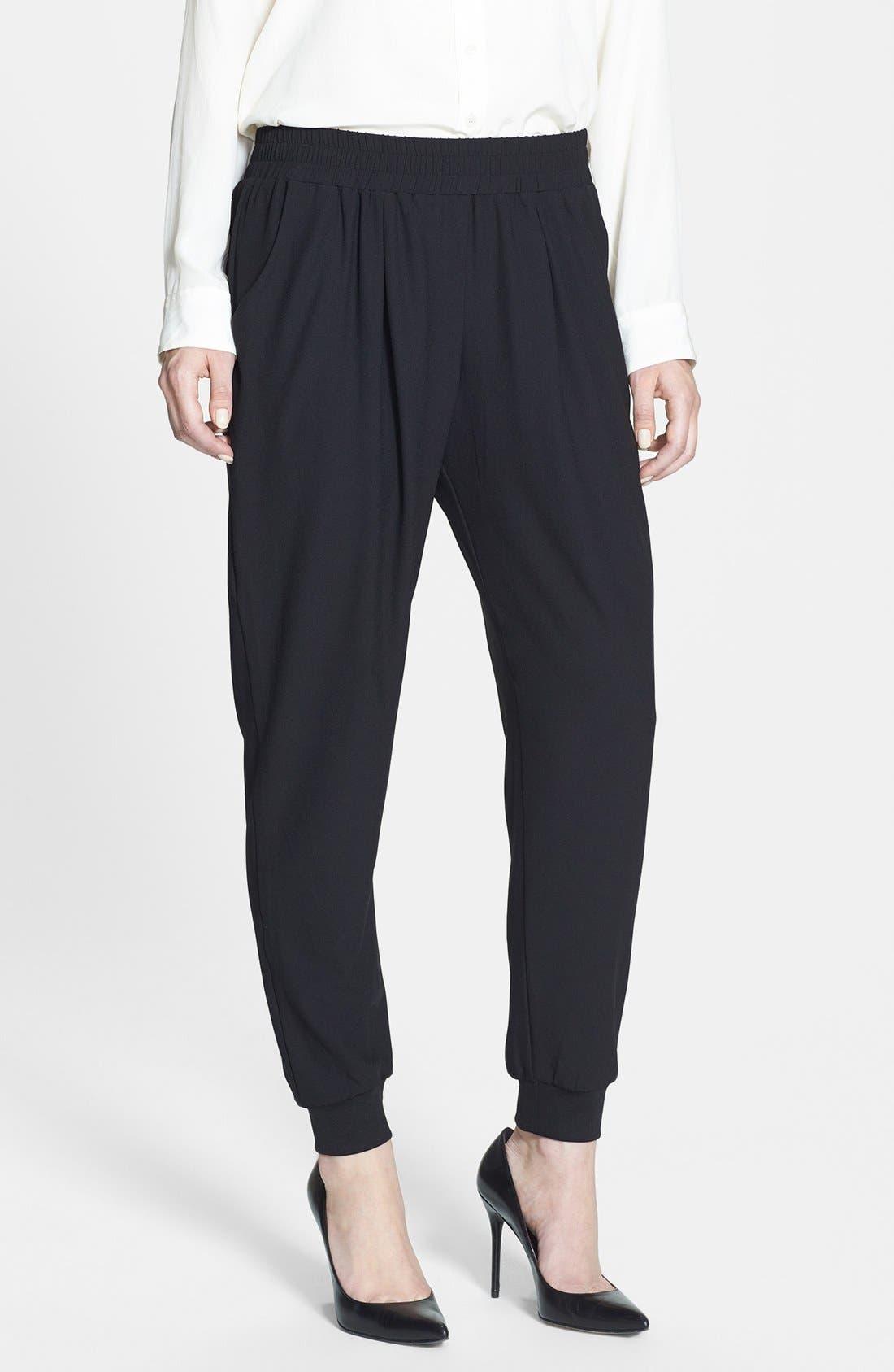 Alternate Image 1 Selected - Bobeau Track Pants (Regular & Petite)
