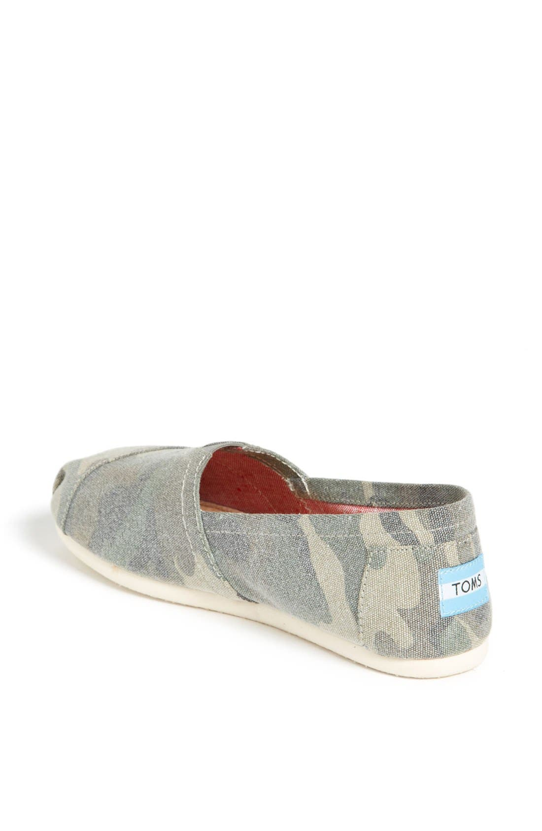 Alternate Image 2  - TOMS 'Classic - Camo' Canvas Slip-On (Women)