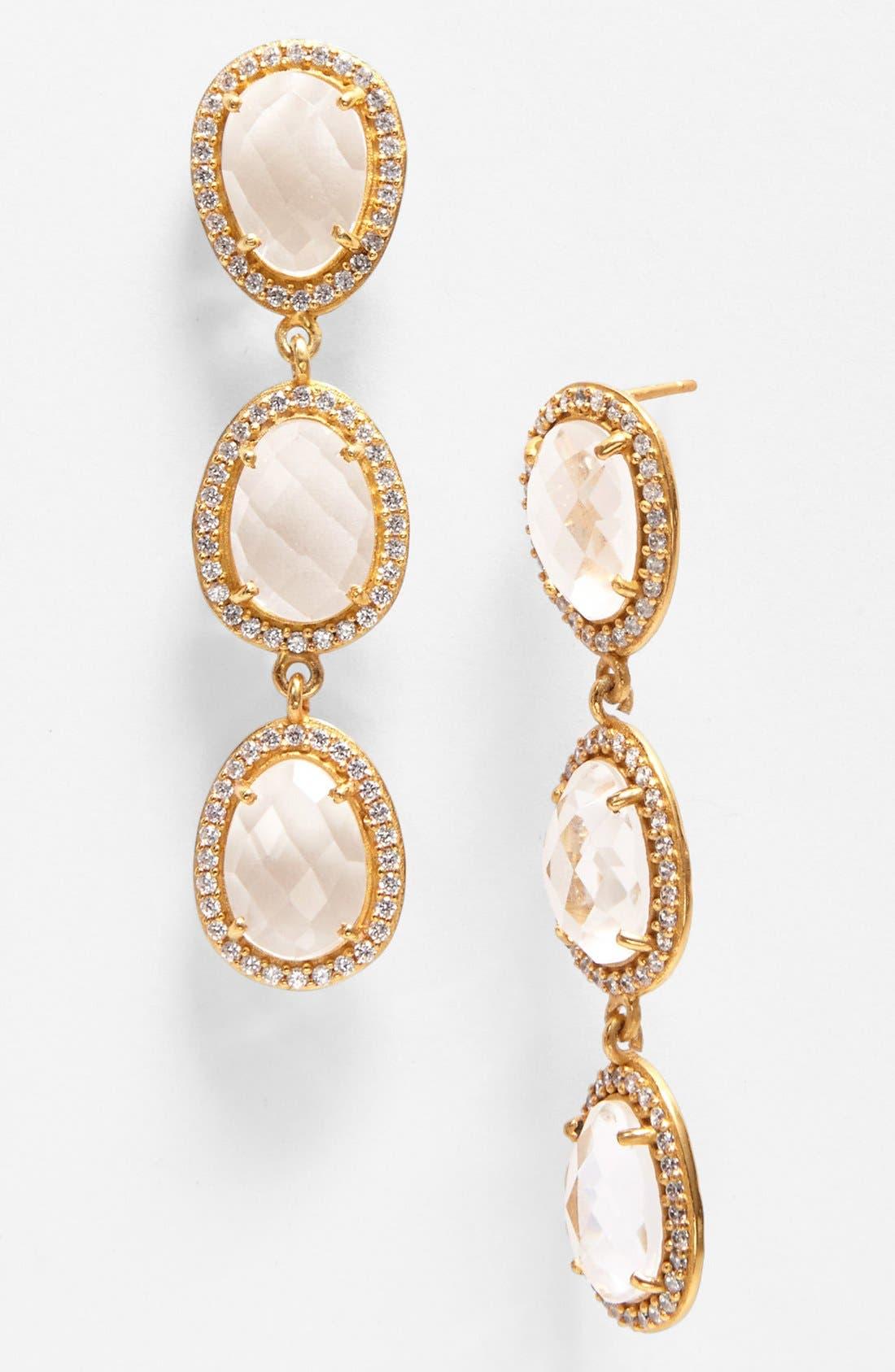 Alternate Image 1 Selected - NuNu Designs Stone Linear Earrings
