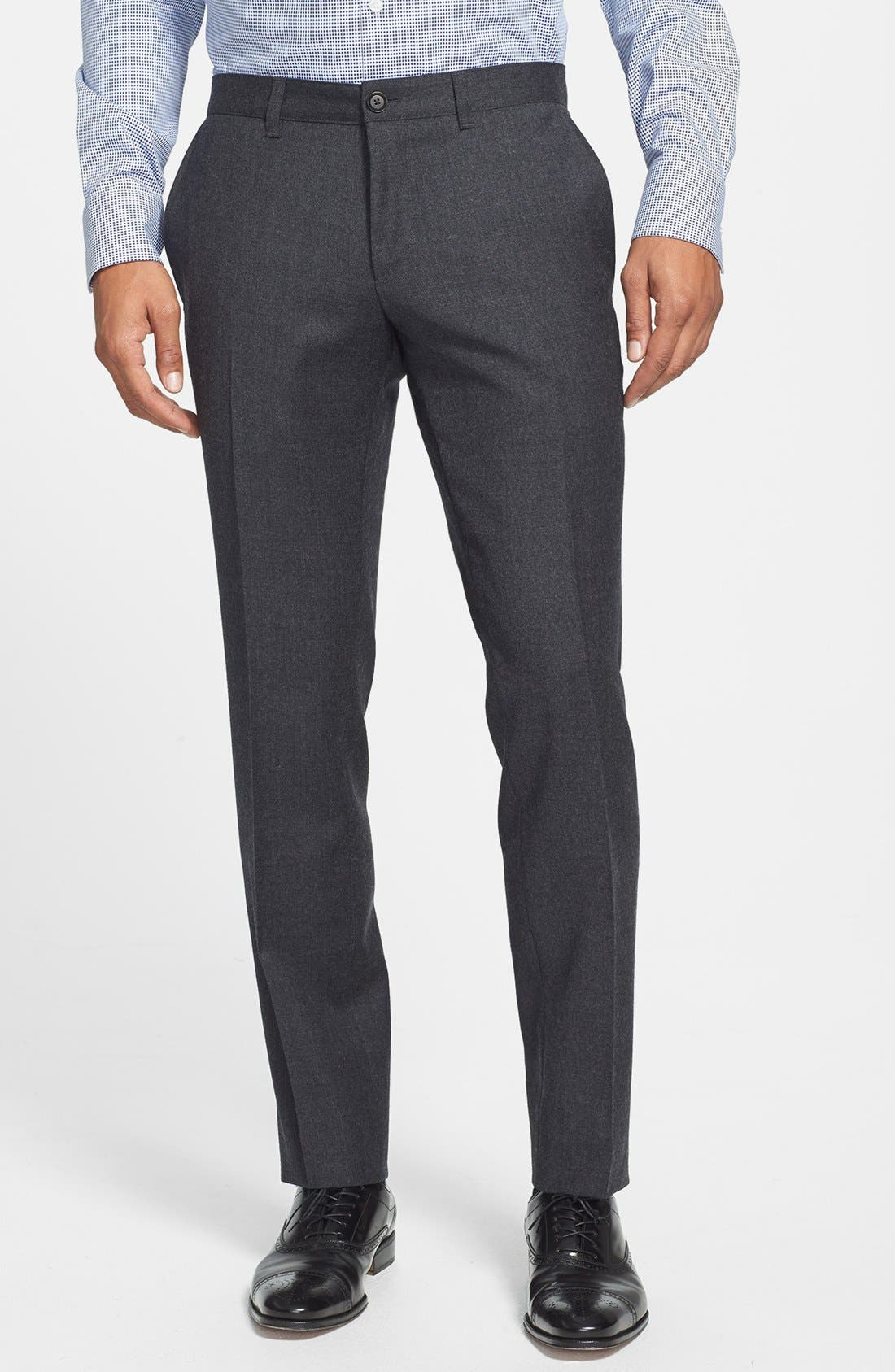 Main Image - BOSS HUGO BOSS 'Winng' Flat Front Trousers (Online Only)