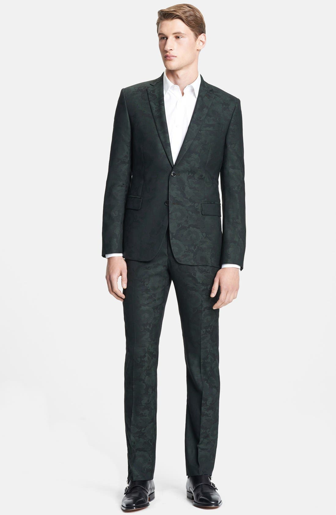 Alternate Image 1 Selected - Versace Trend Fit Pattern Wool Blend Suit