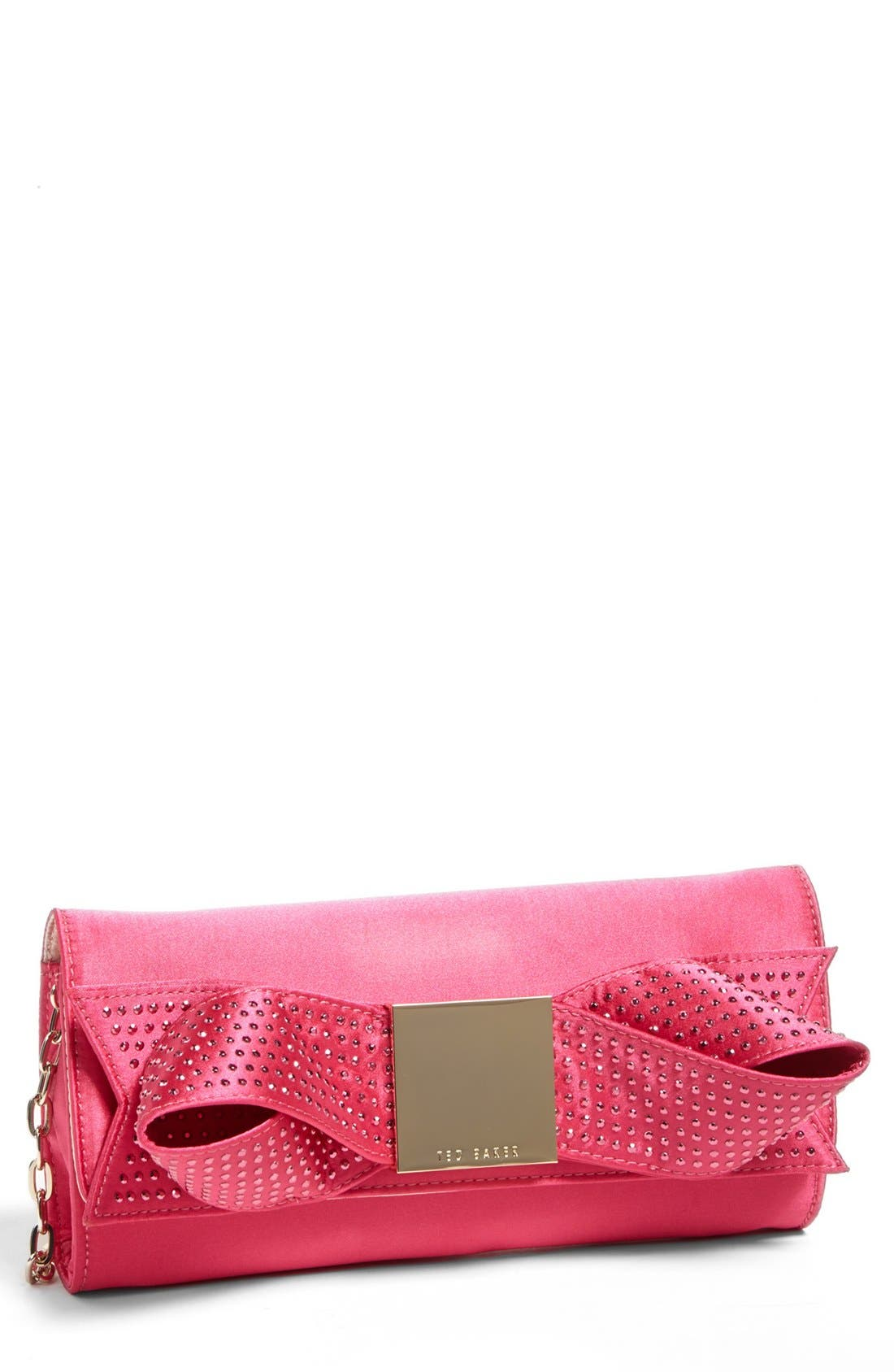 Main Image - Ted Baker London 'Holiday - Satin Bow' Clutch