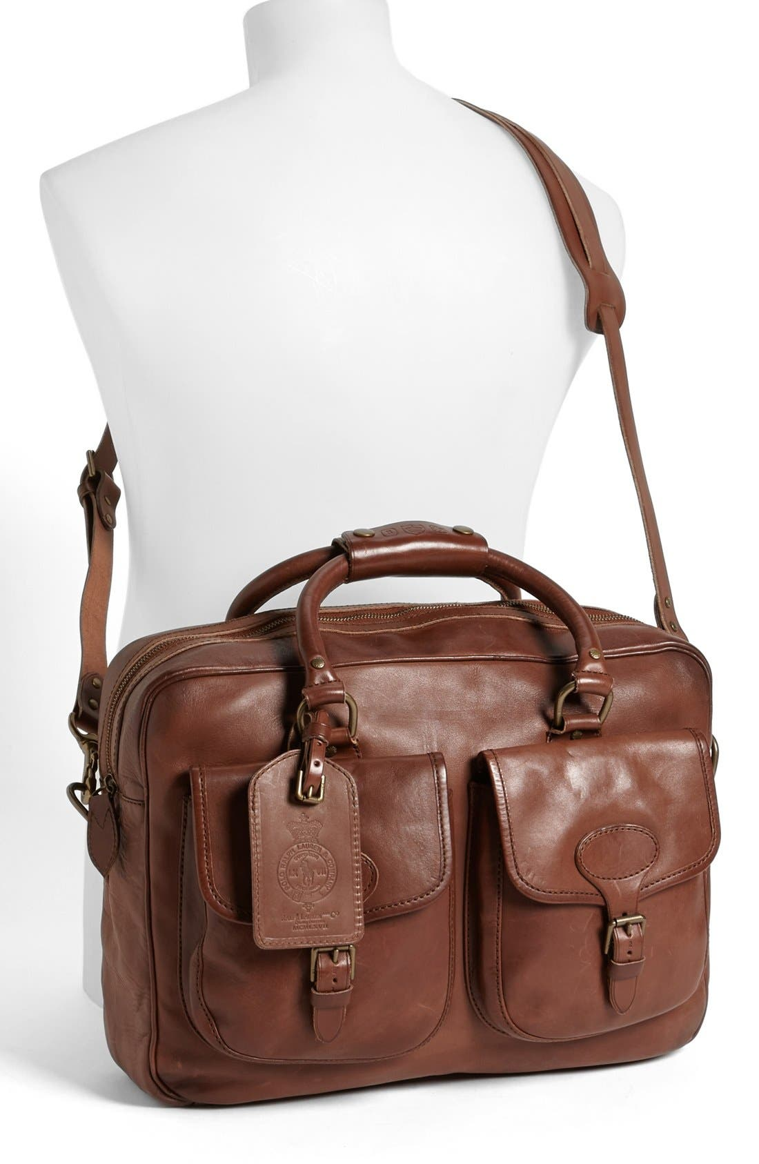 Alternate Image 2  - Polo Ralph Lauren Leather Commuter Bag