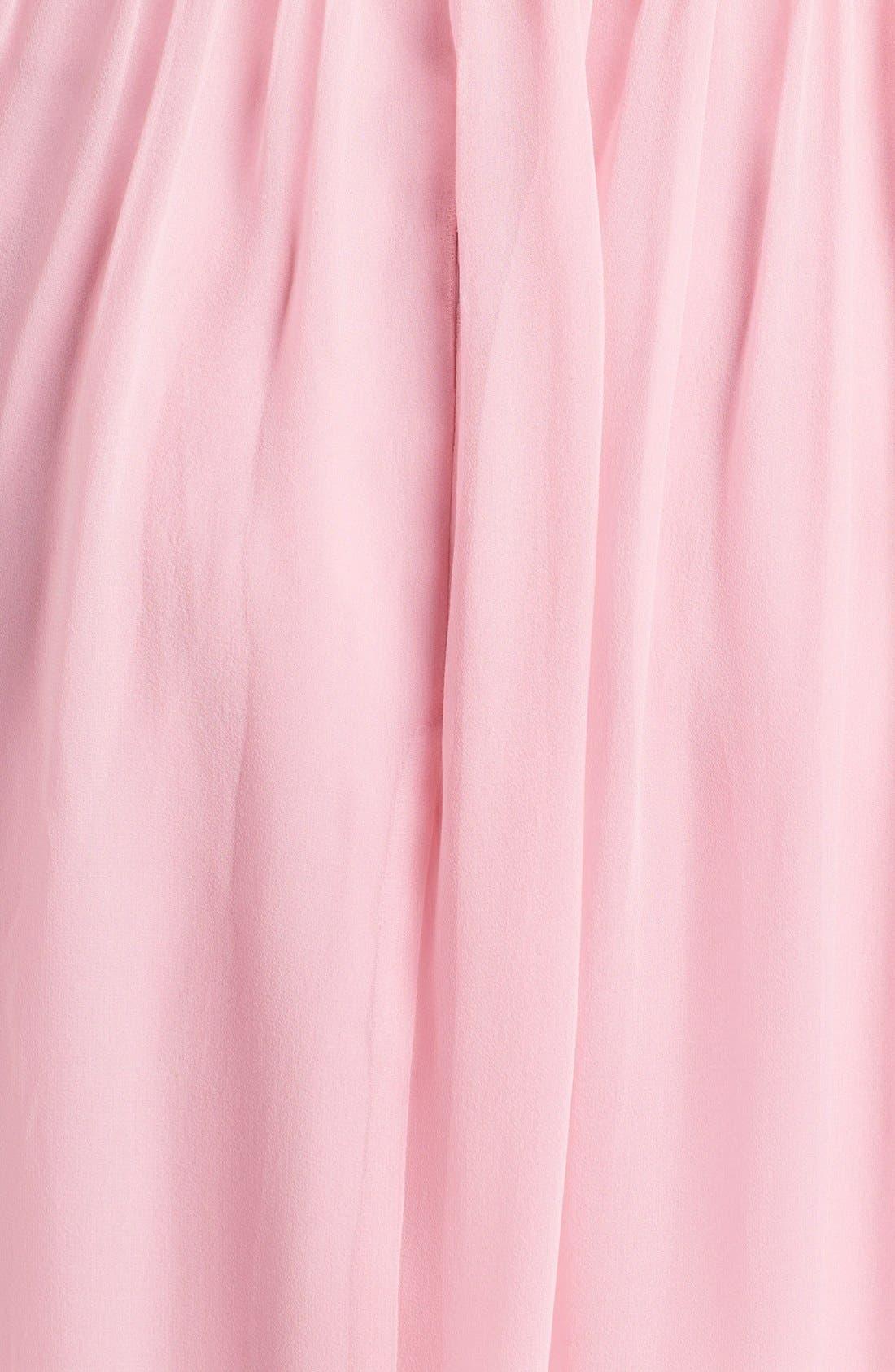 Alternate Image 3  - Donna Morgan 'Morgan' Strapless Silk Chiffon Dress