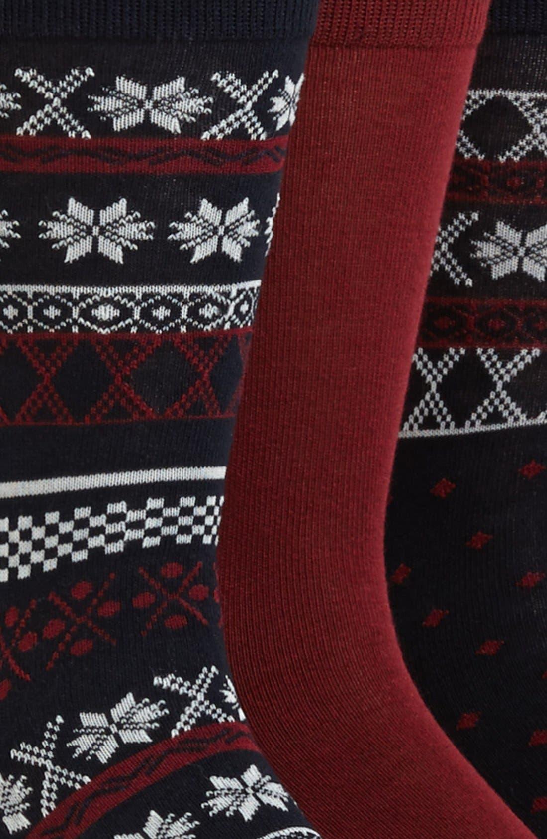 Alternate Image 2  - Topman Fair Isle Socks (5-Pack)