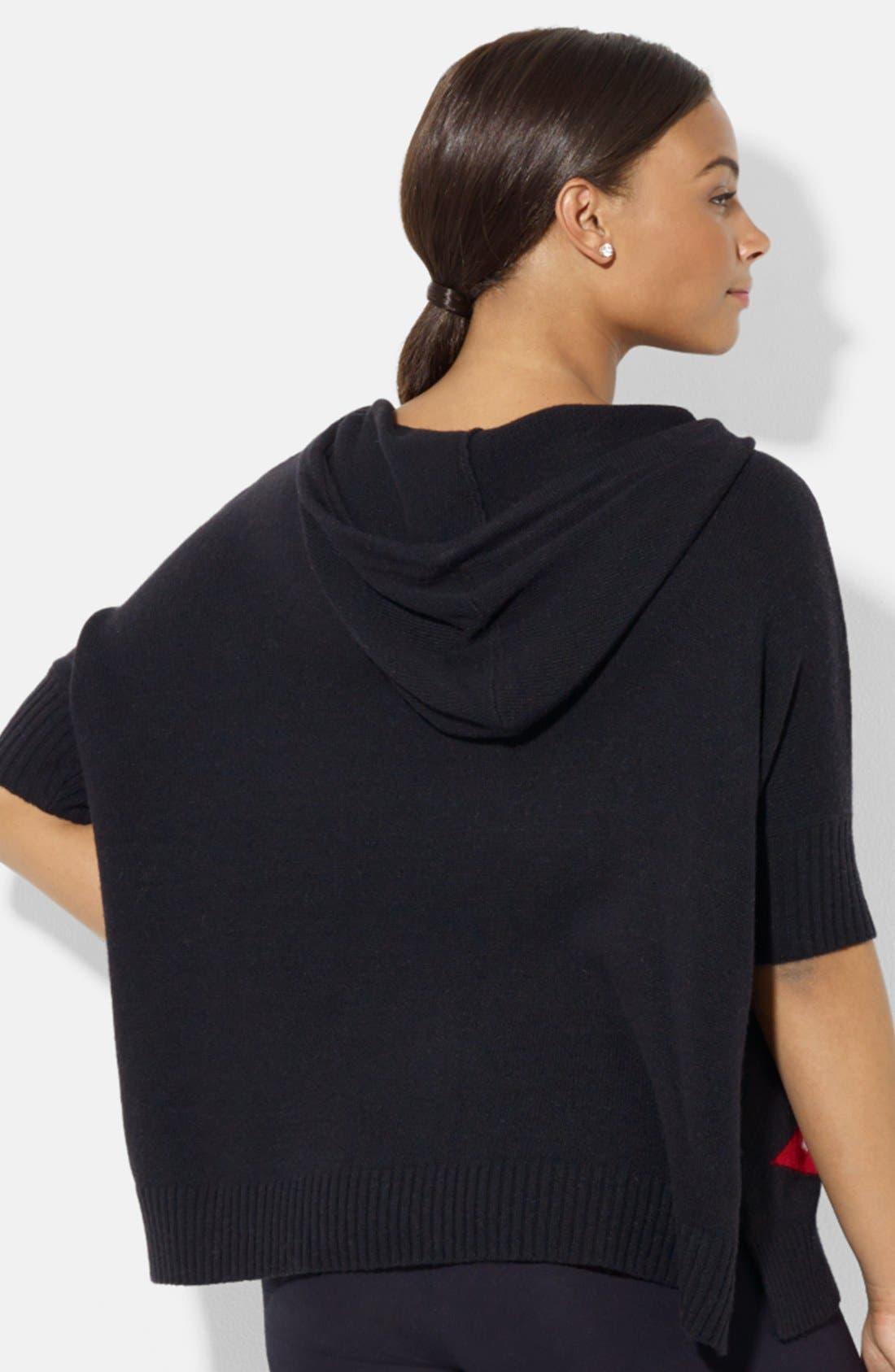 Alternate Image 2  - Lauren Ralph Lauren Hooded Poncho Sweater (Plus Size)