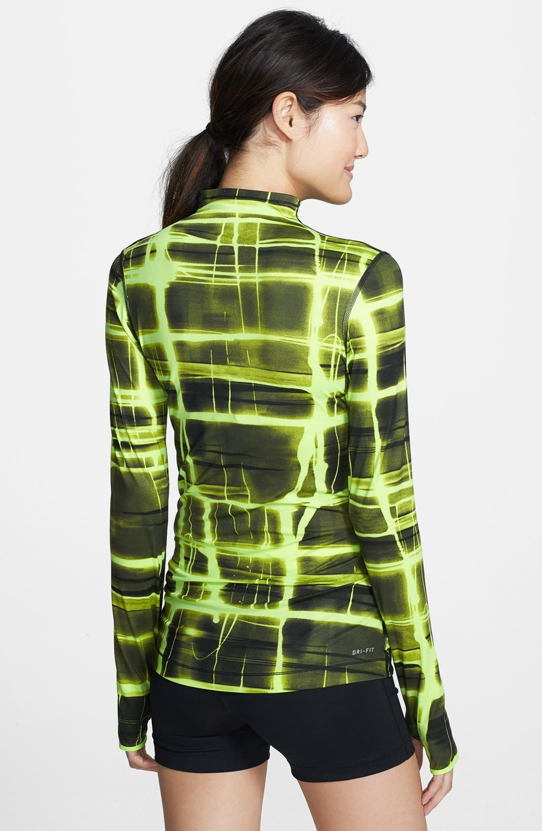 Alternate Image 2  - Nike 'Pro' Dri-FIT Printed Half Zip Top