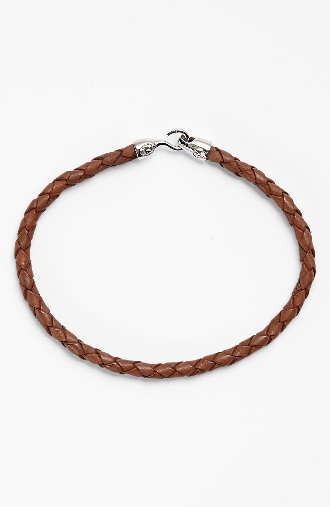 Alternate Image 1 Selected - Mateo Bijoux 'Greek' Braided Leather Bracelet