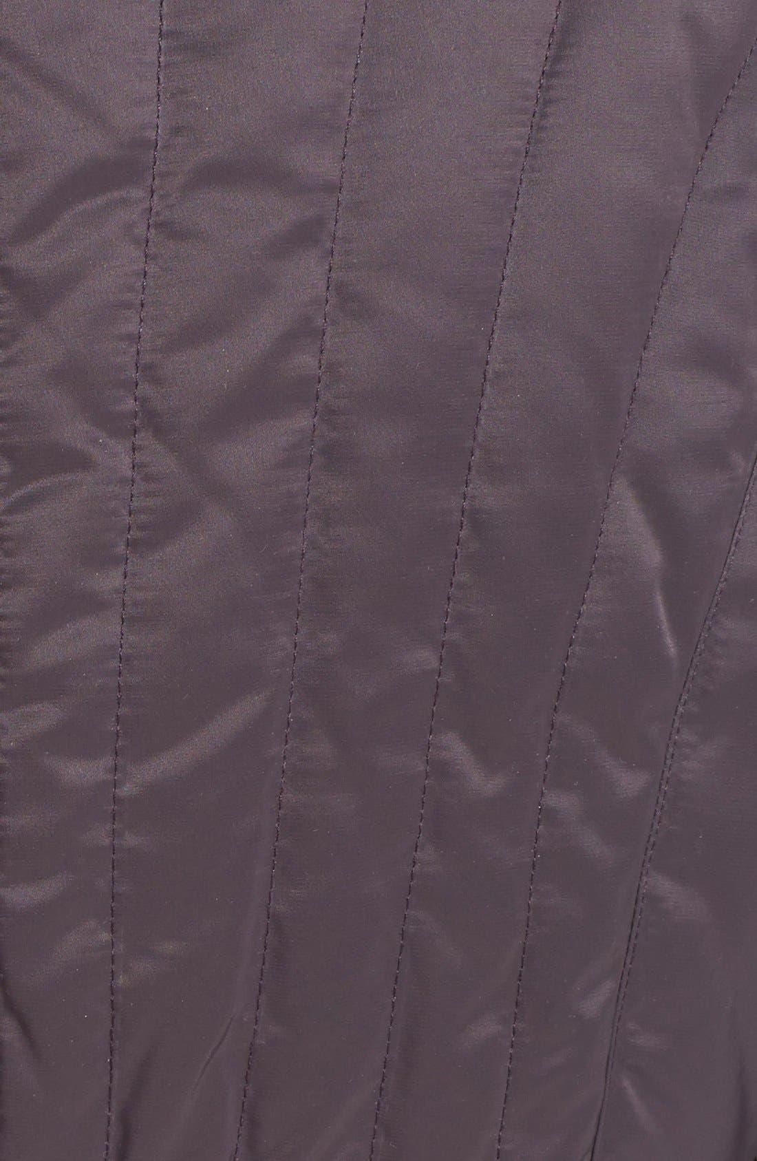 Alternate Image 3  - Elie Tahari 'Corey' Genuine Rabbit Fur Trim Belted Long Down Coat